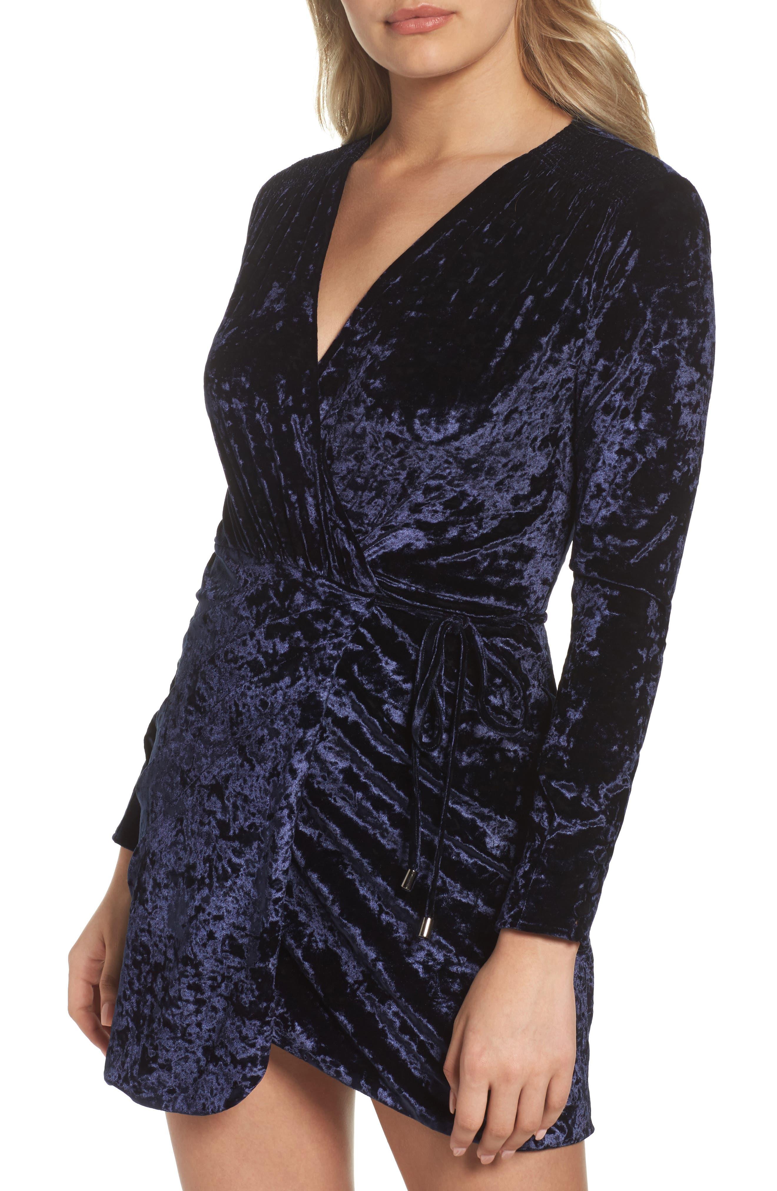 Alternate Image 4  - Greylin Clarissa Velvet Wrap Minidress