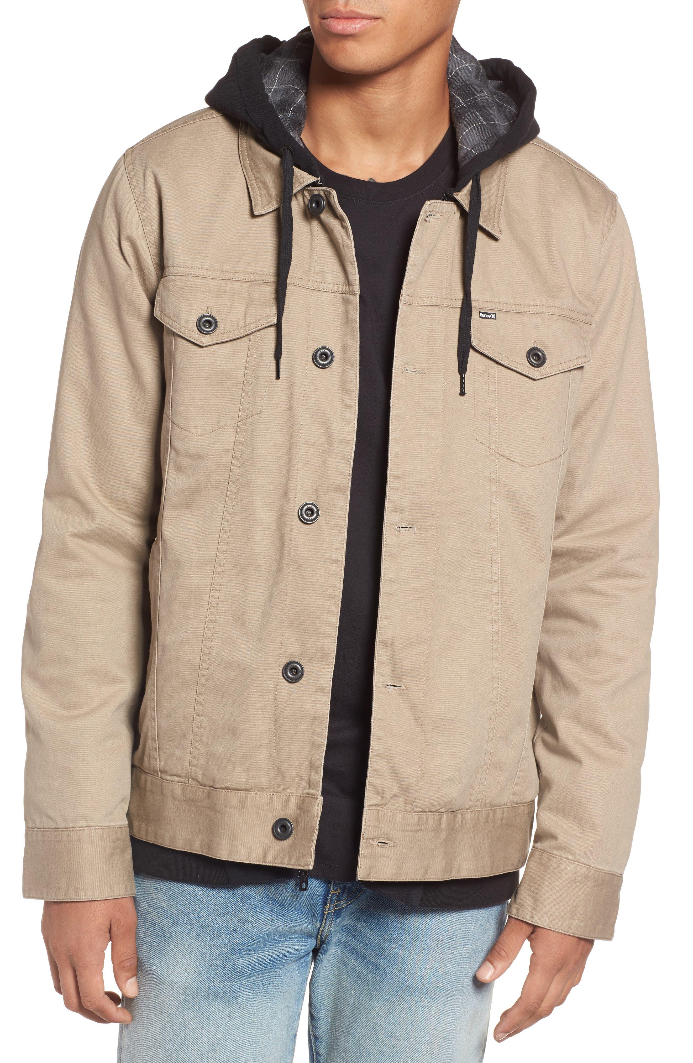 Mac Trucker 3.0 Hooded Jacket,                         Main,                         color, Khaki
