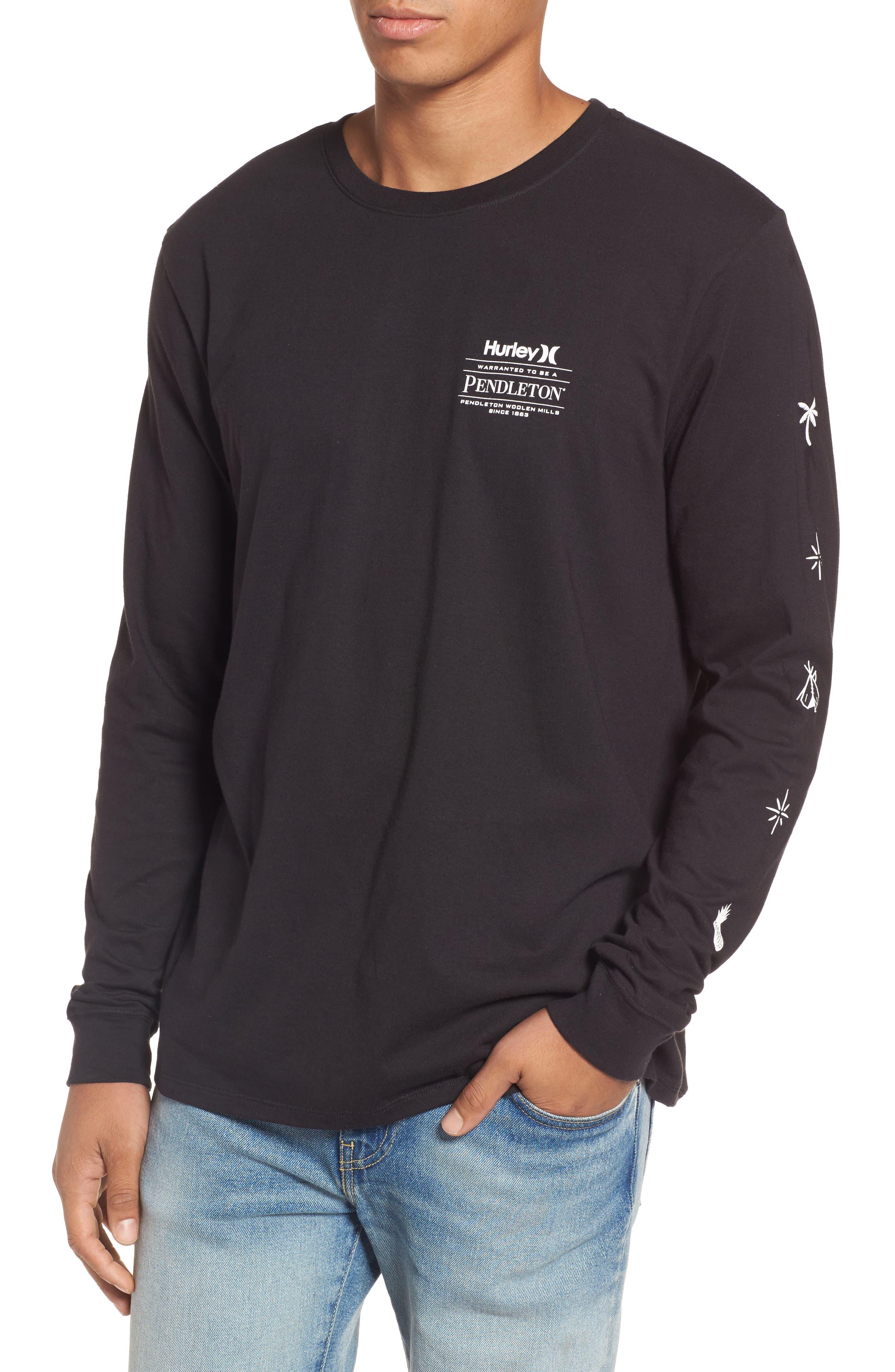 x Pendleton Long Sleeve T-Shirt,                         Main,                         color, Black