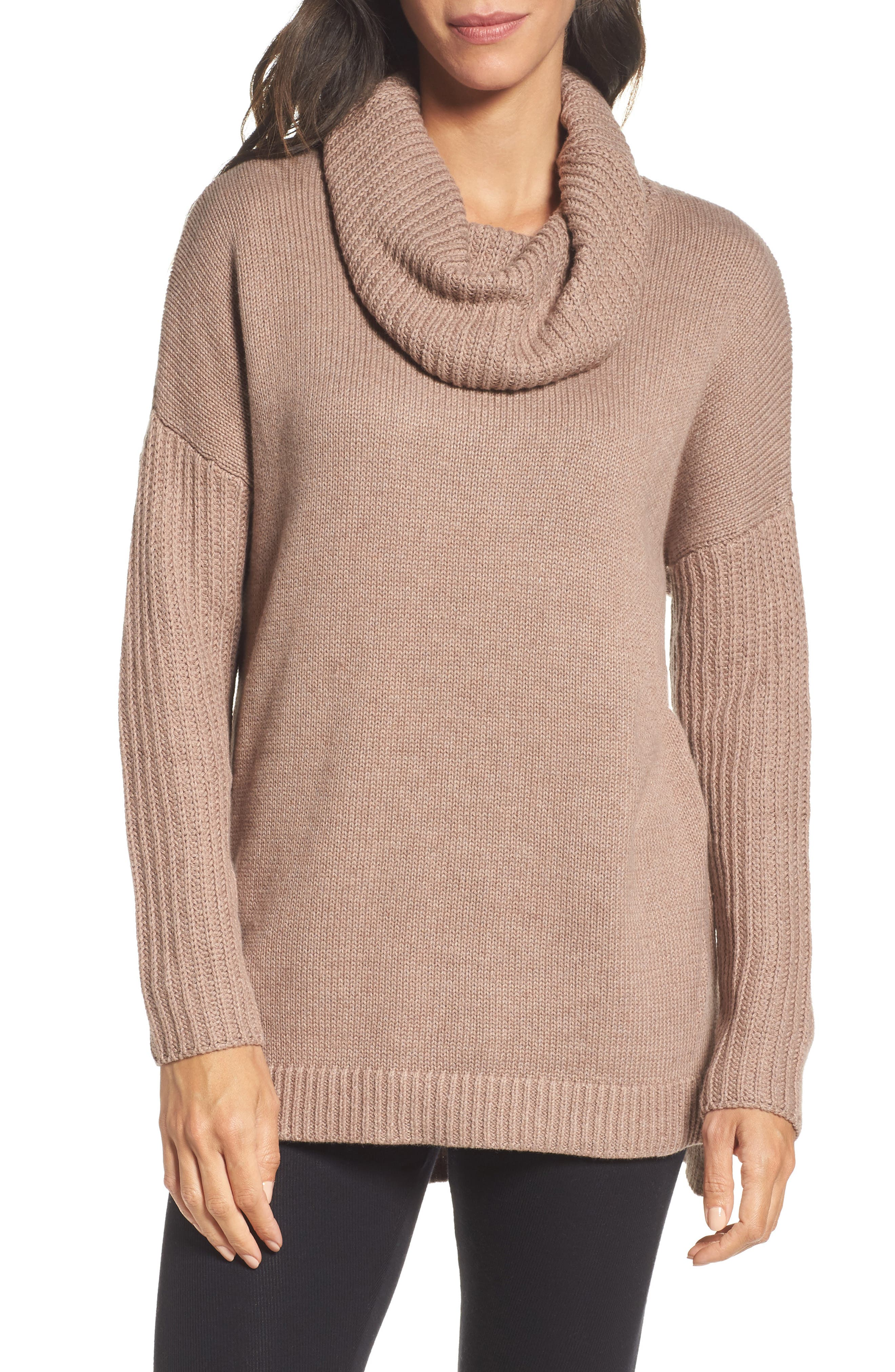 Alternate Image 1 Selected - UGG® Cowl Neck Tunic Sweater