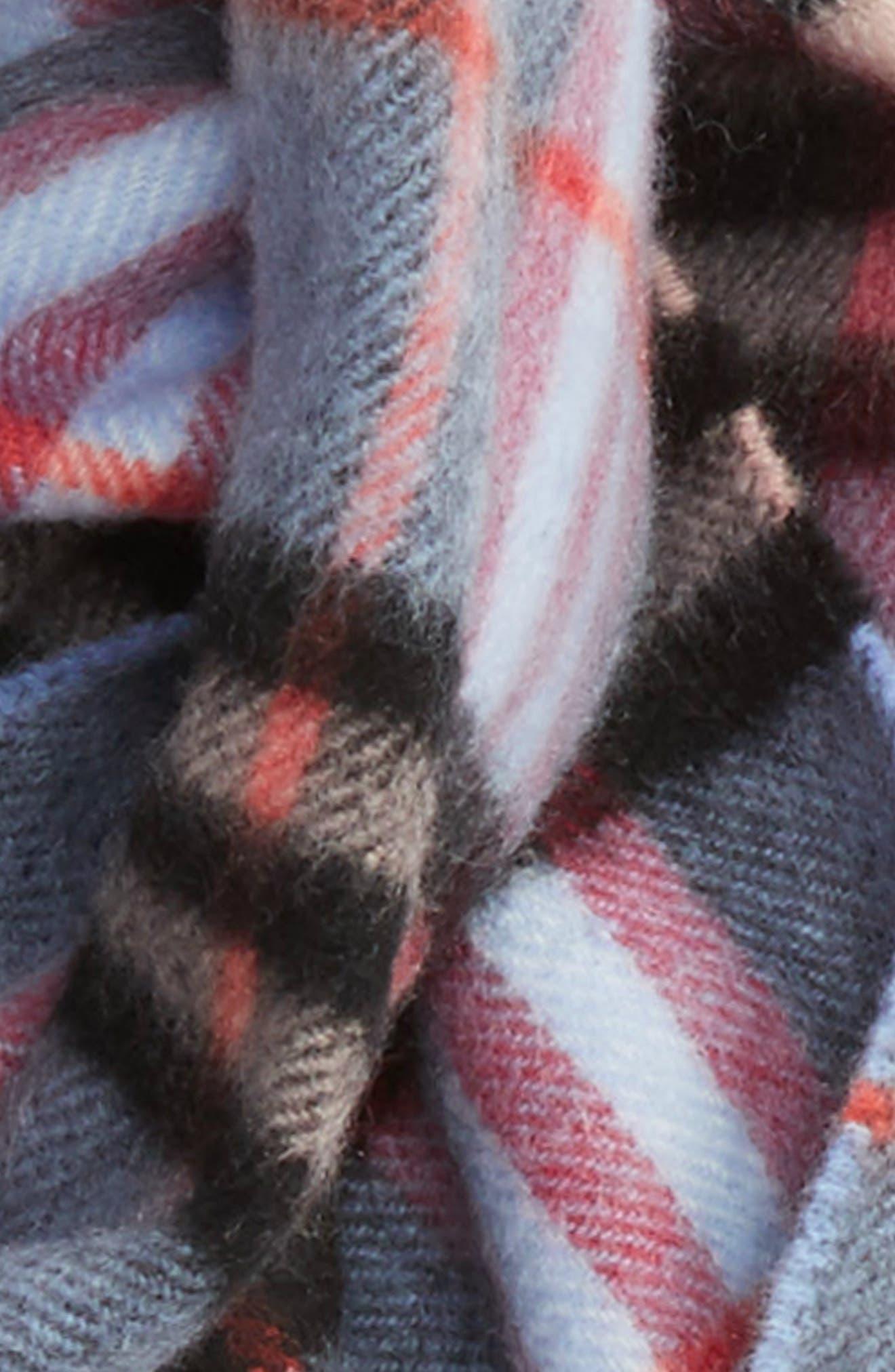 Alternate Image 3  - Burberry Castleford Check Cashmere Scarf