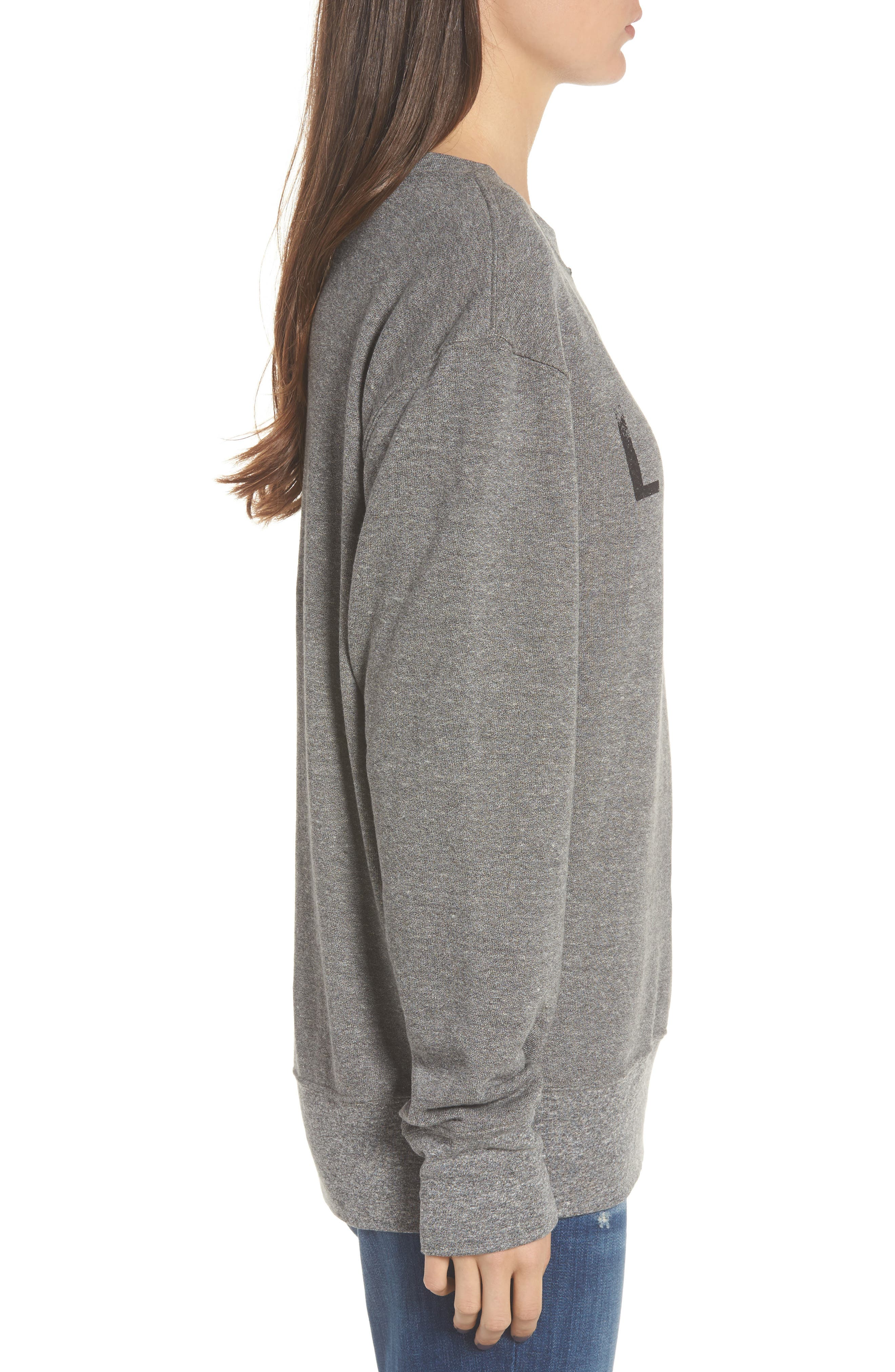 Alternate Image 3  - Current/Elliott Heathered Slouchy Sweatshirt