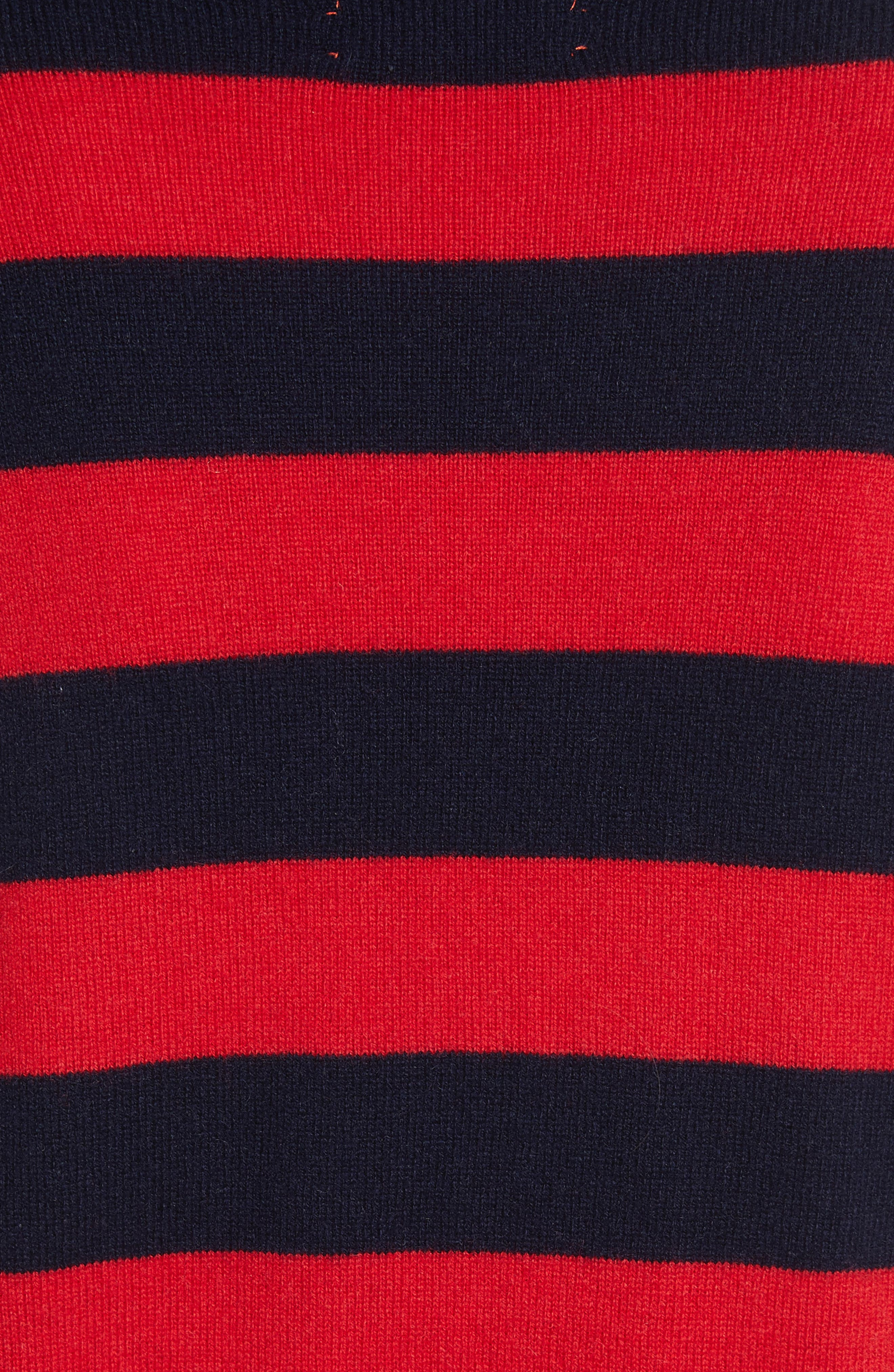 Alternate Image 5  - CHINTI & PARKER Navy Pop Stripe Cashmere Sweater