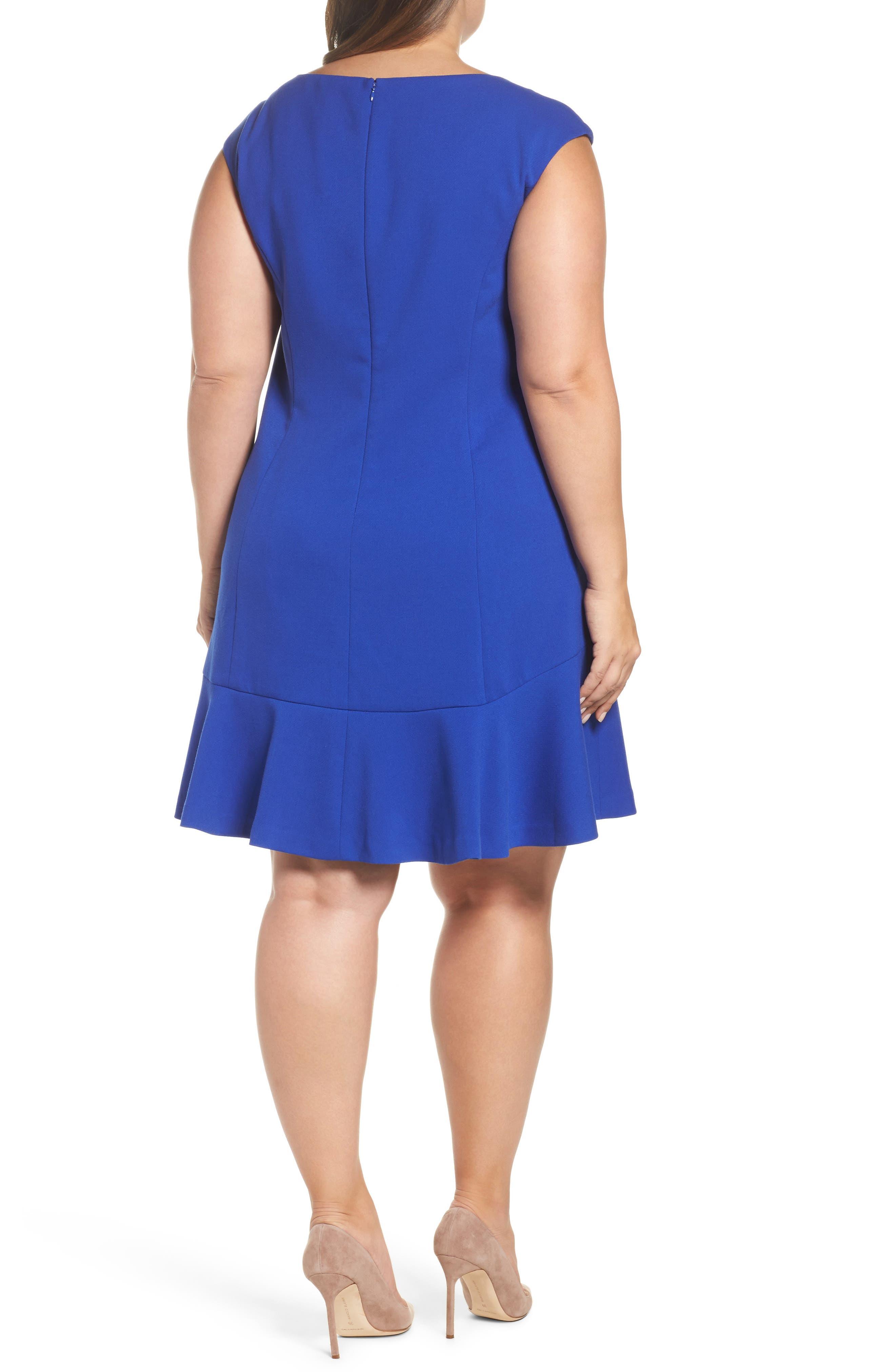 Drop Waist Dress,                             Alternate thumbnail 2, color,                             Cobalt