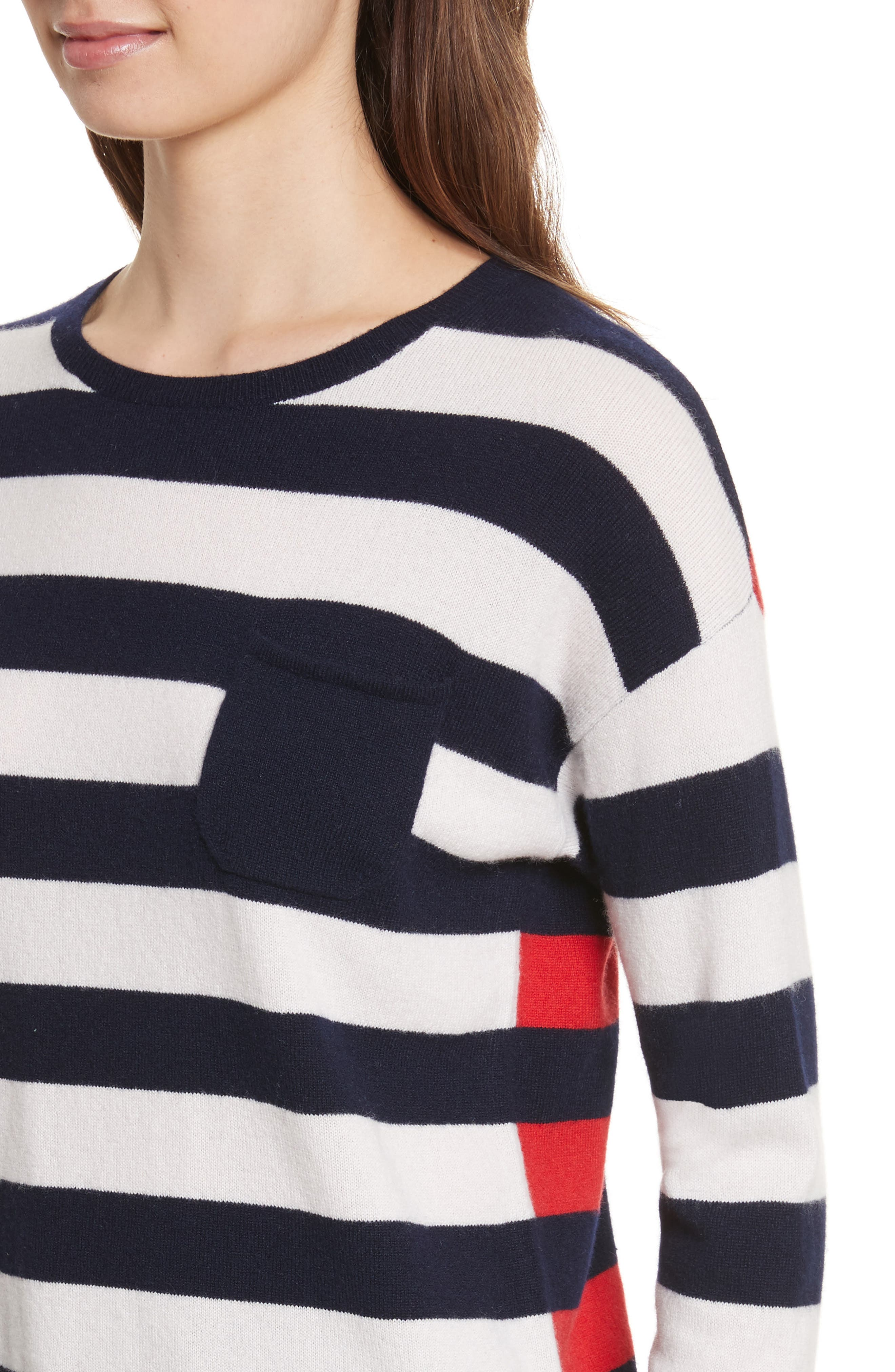 Alternate Image 4  - CHINTI & PARKER Navy Pop Stripe Cashmere Sweater