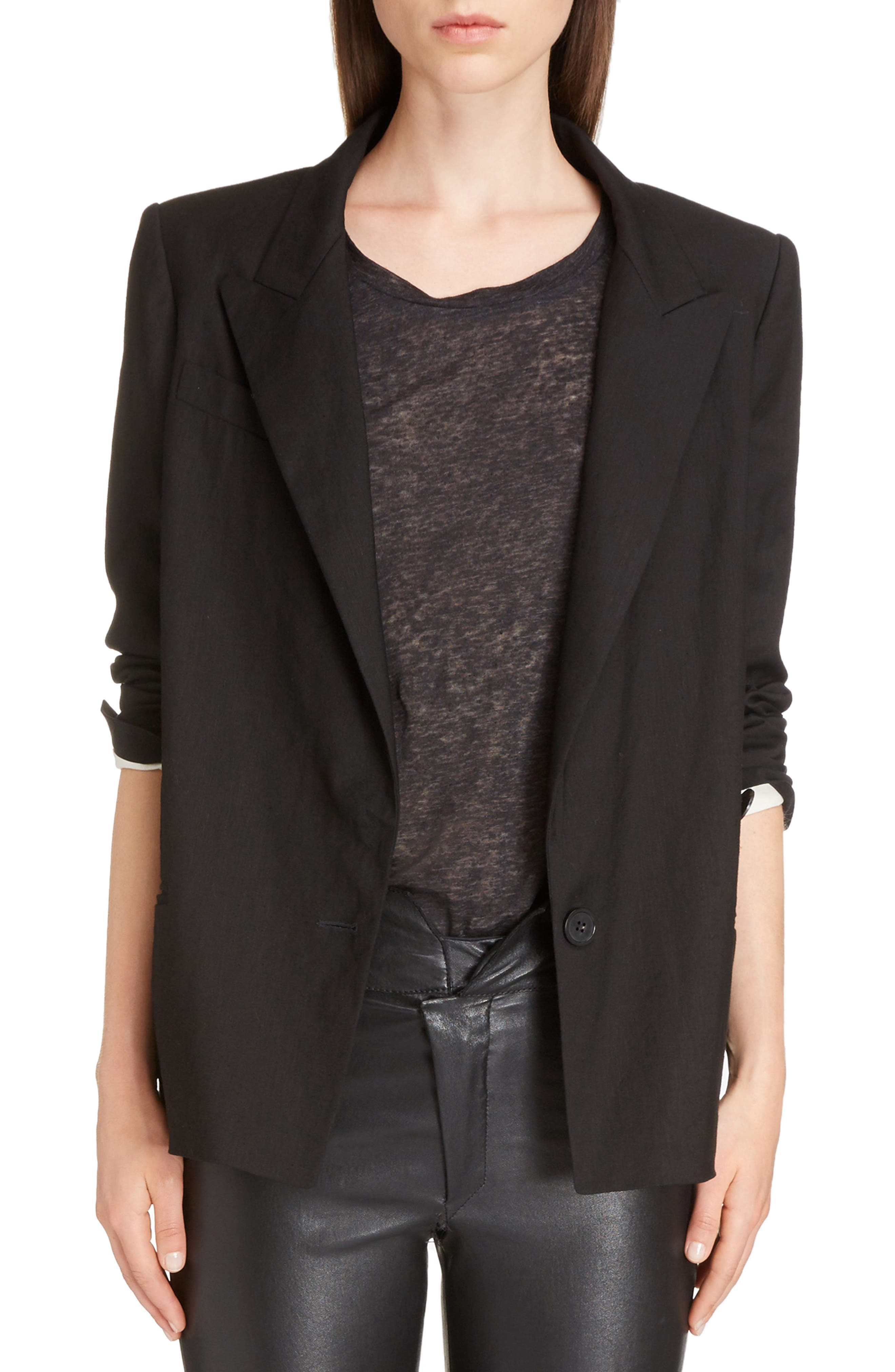Alternate Image 1 Selected - Isabel Marant Riane Stretch Linen Blend Blazer