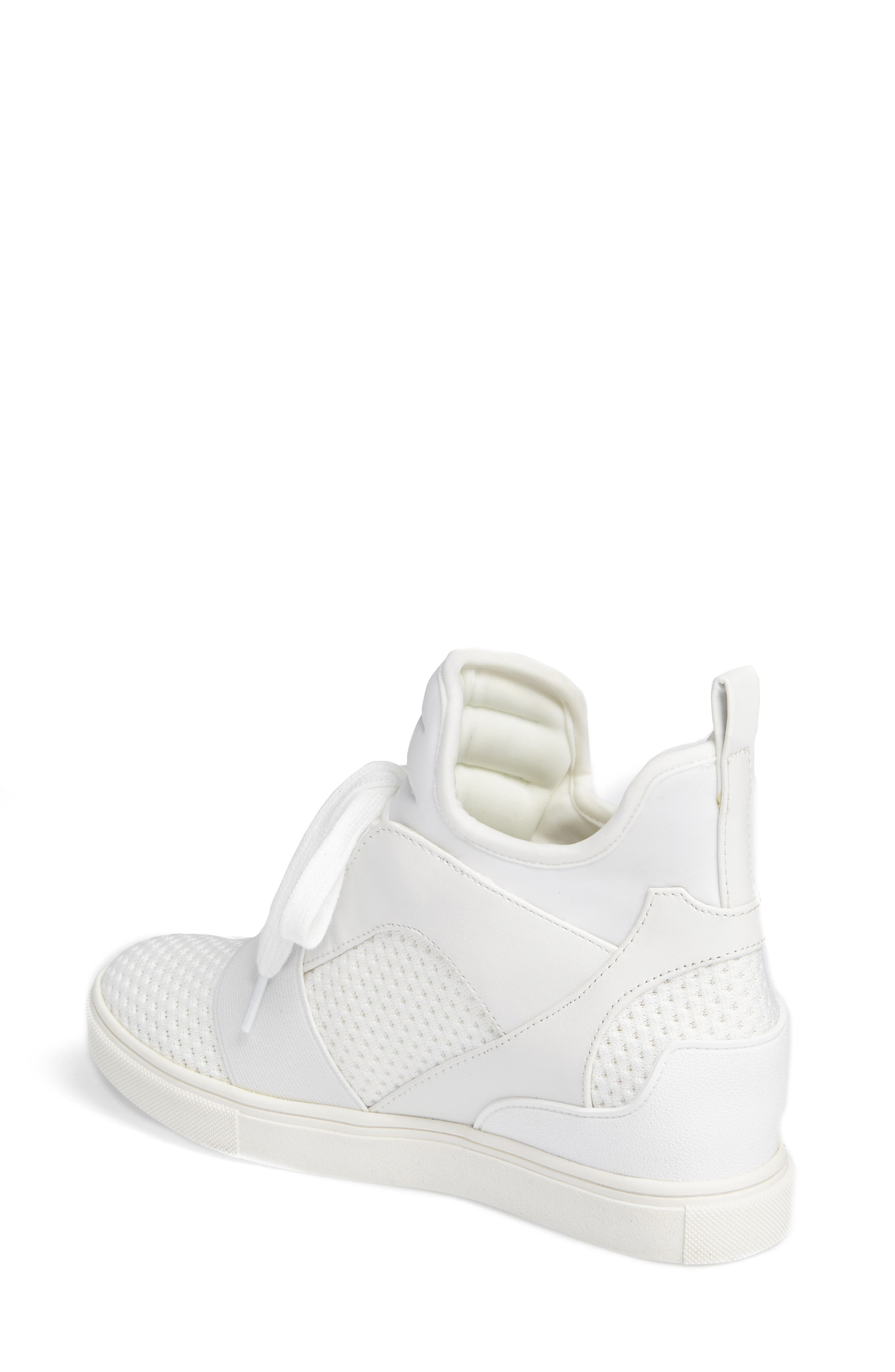 Lexie Wedge Sneaker,                             Alternate thumbnail 2, color,                             White