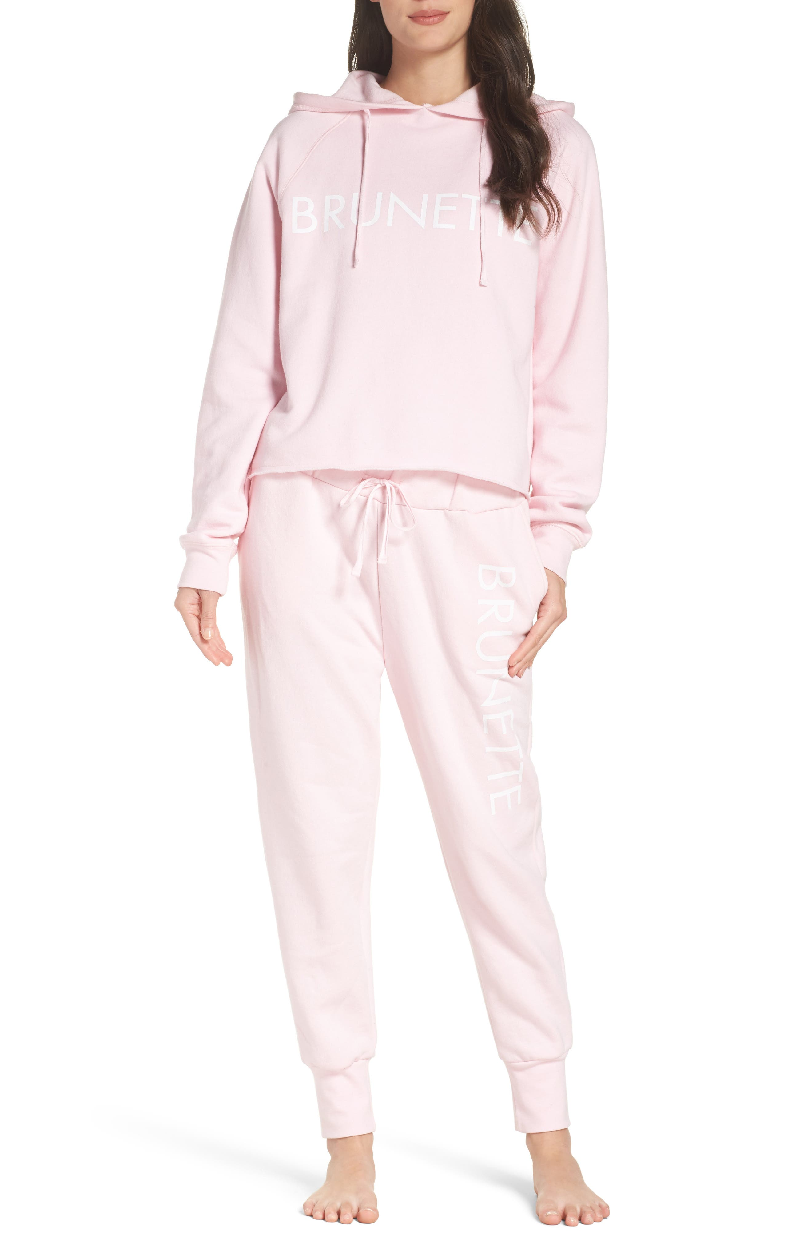 Brunette Jogger Pants,                             Alternate thumbnail 6, color,                             Pink