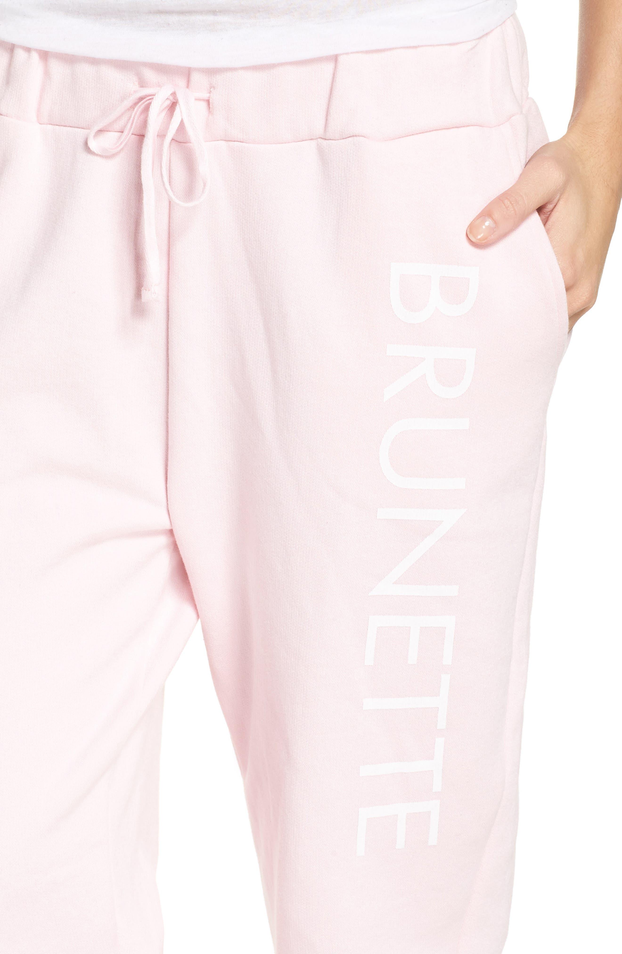 Brunette Jogger Pants,                             Alternate thumbnail 7, color,                             Pink
