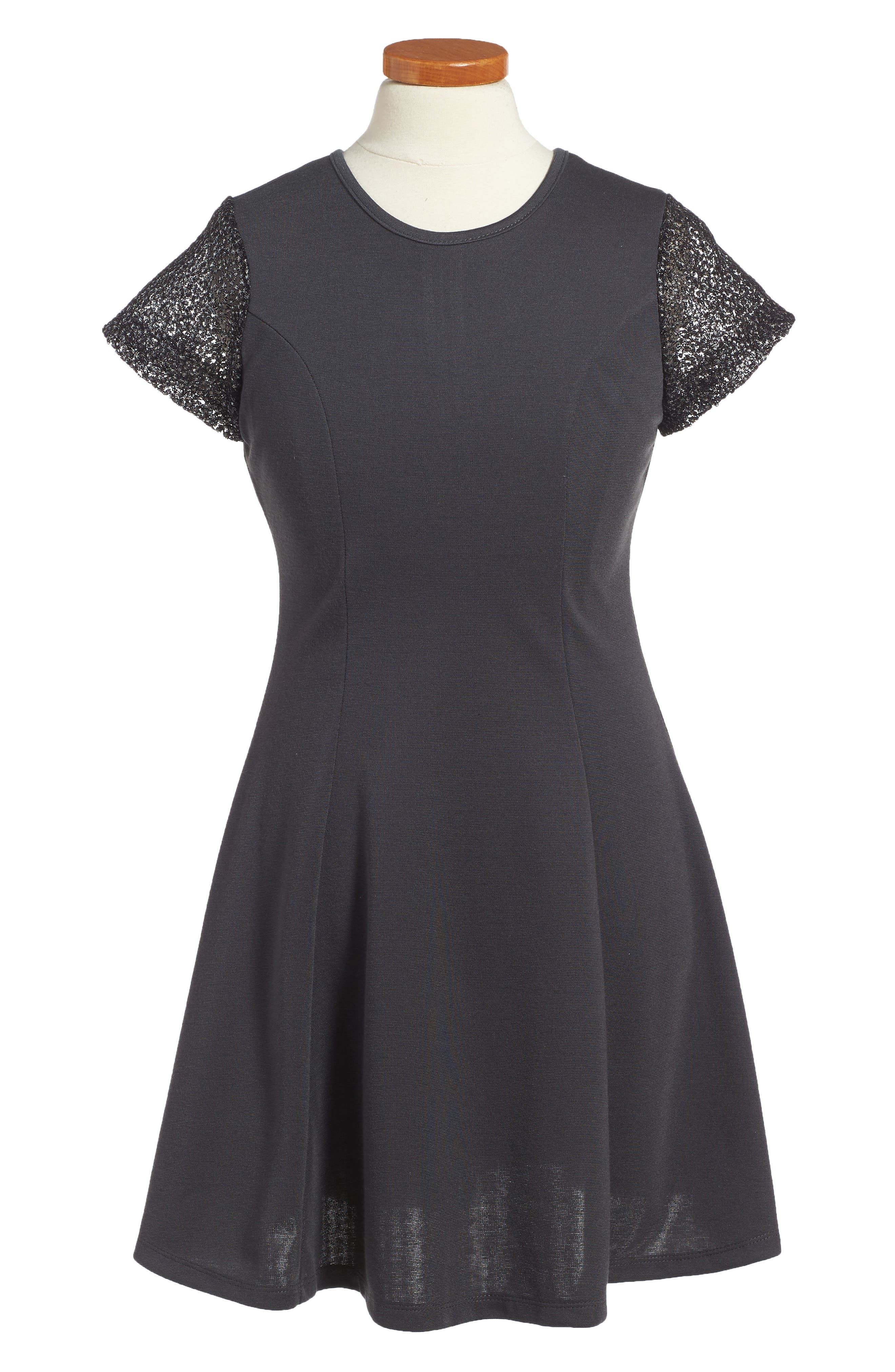 Penelope Tree Priscilla Mesh Sleeve Dress (Big Girls)