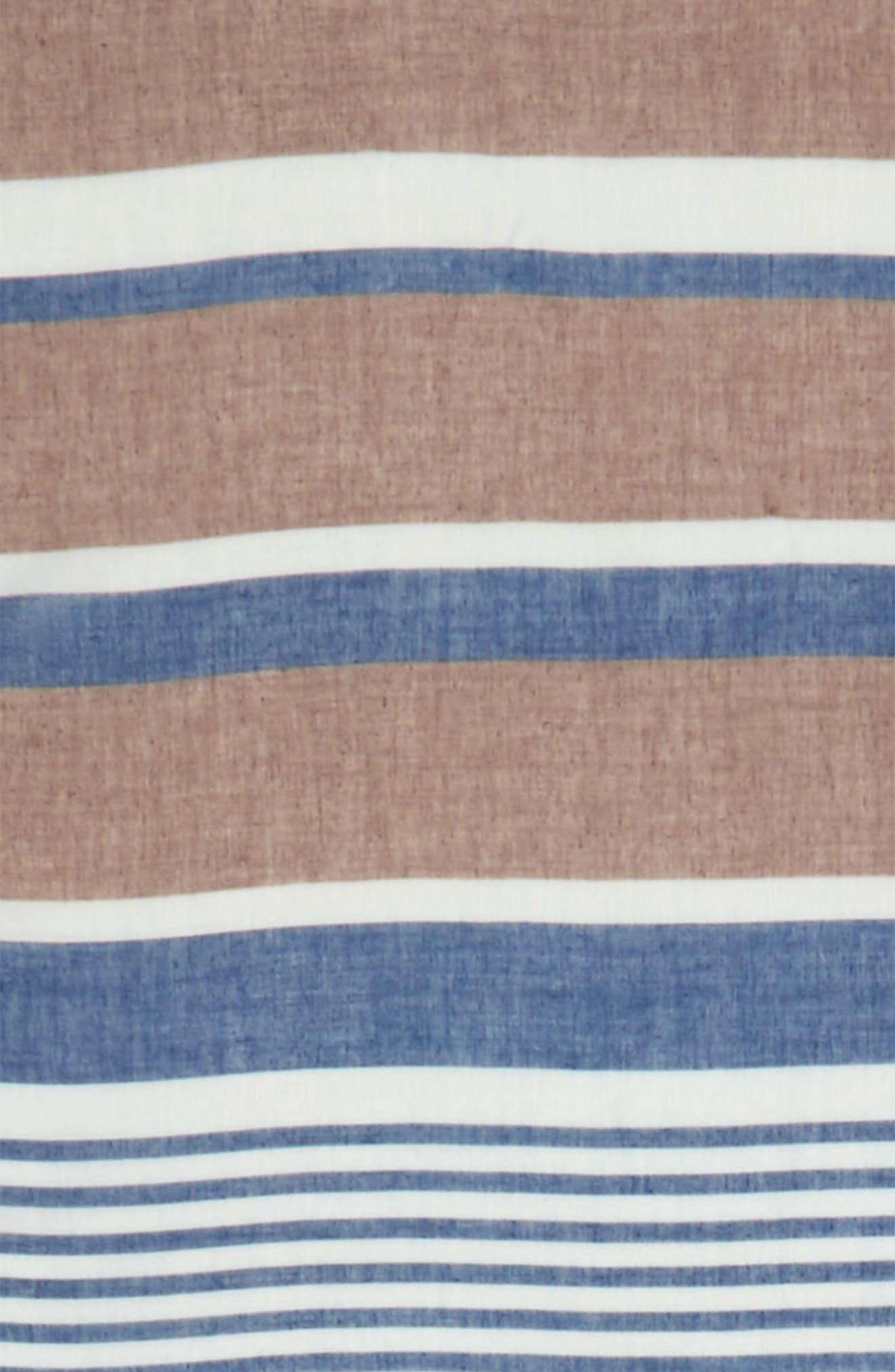 Alternate Image 3  - Accessory Collective Multi Stripe Oblong Scarf