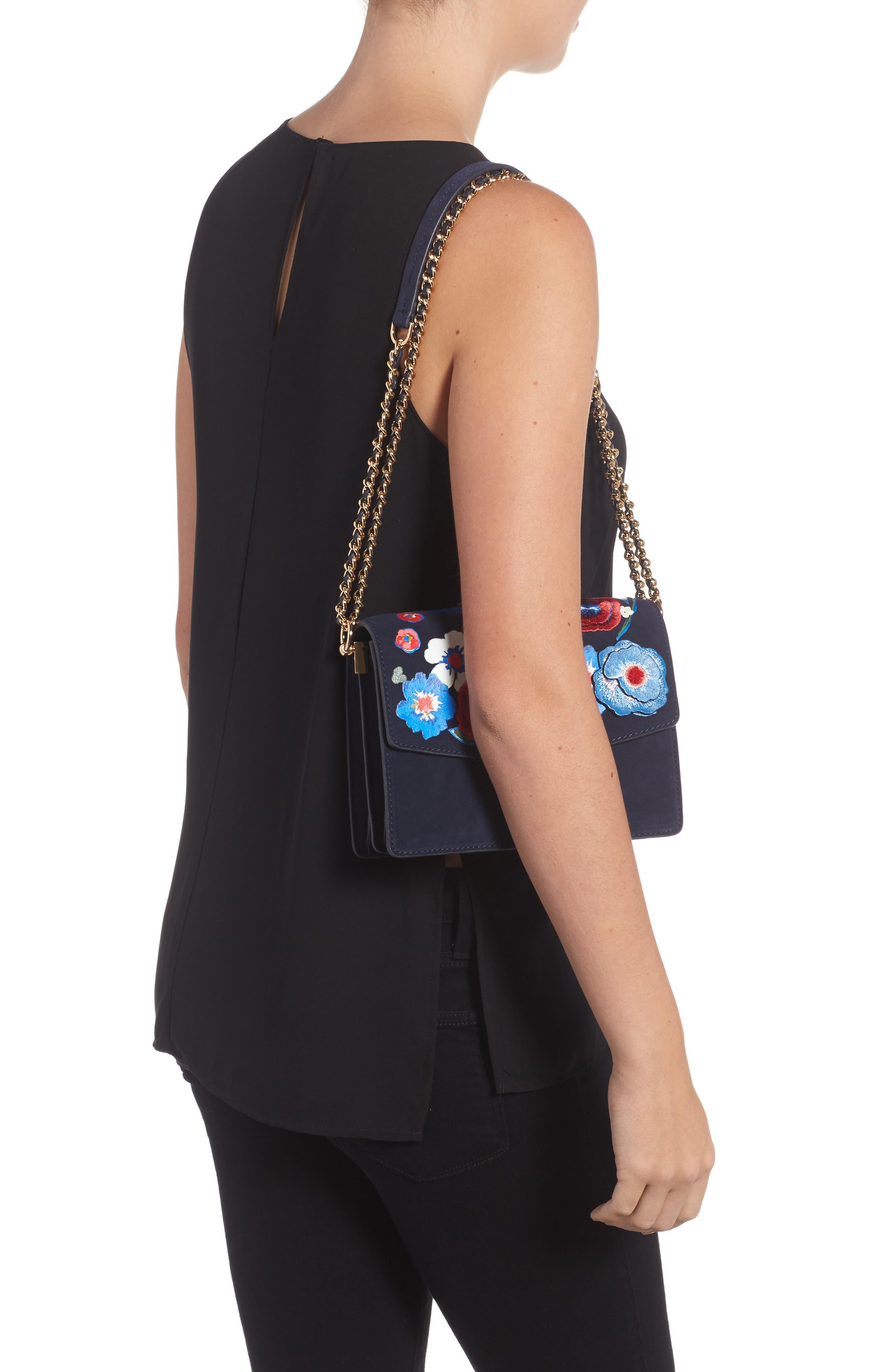 Alternate Image 6  - Tory Burch Parker Flower Embroidered Leather Shoulder/Crossbody Bag
