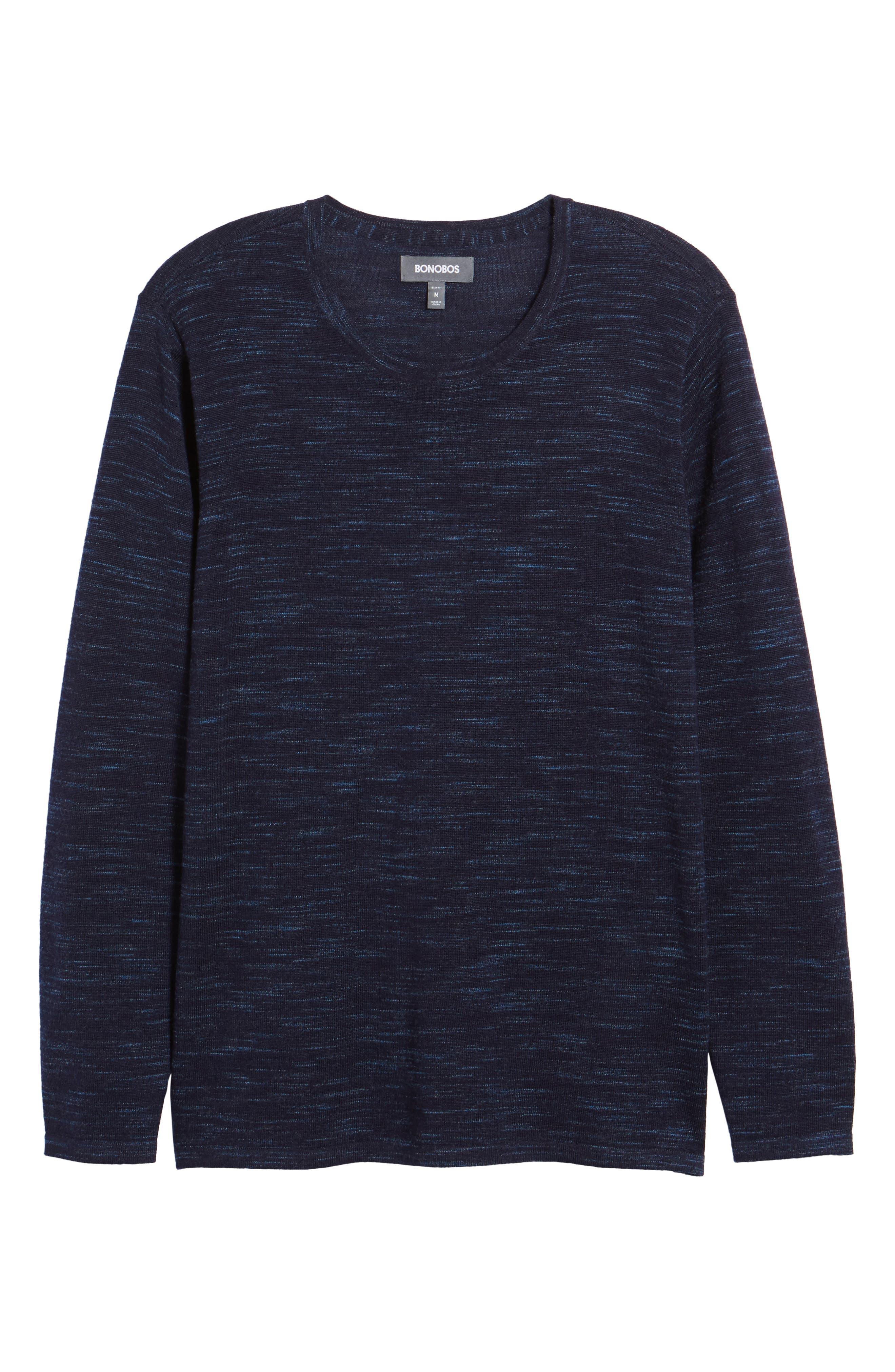 Merino Wool T-Shirt,                             Alternate thumbnail 6, color,                             Stridden Blazer