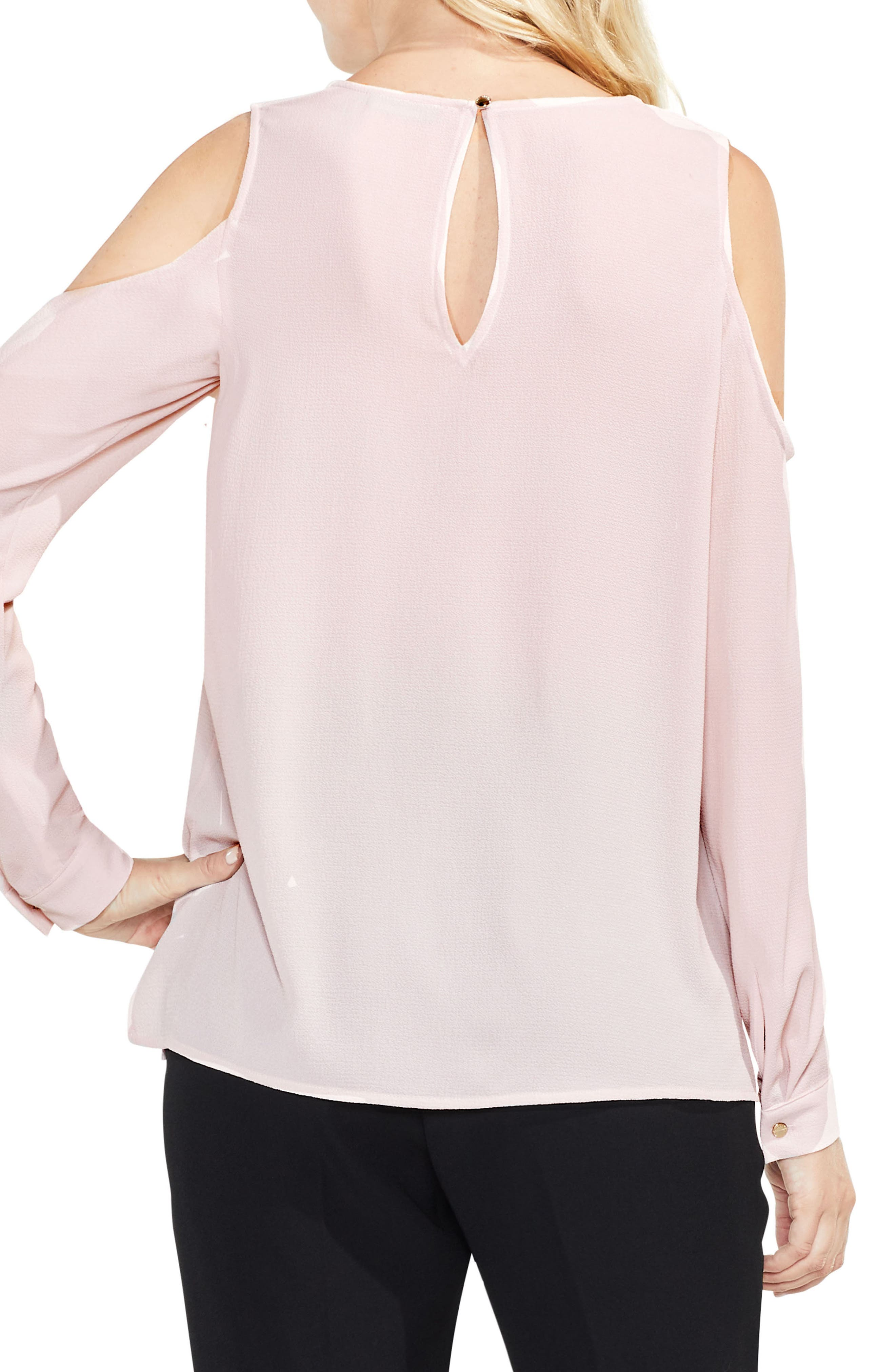 Alternate Image 2  - Vince Camuto Ruffle Cold Shoulder Top (Regular & Petite)