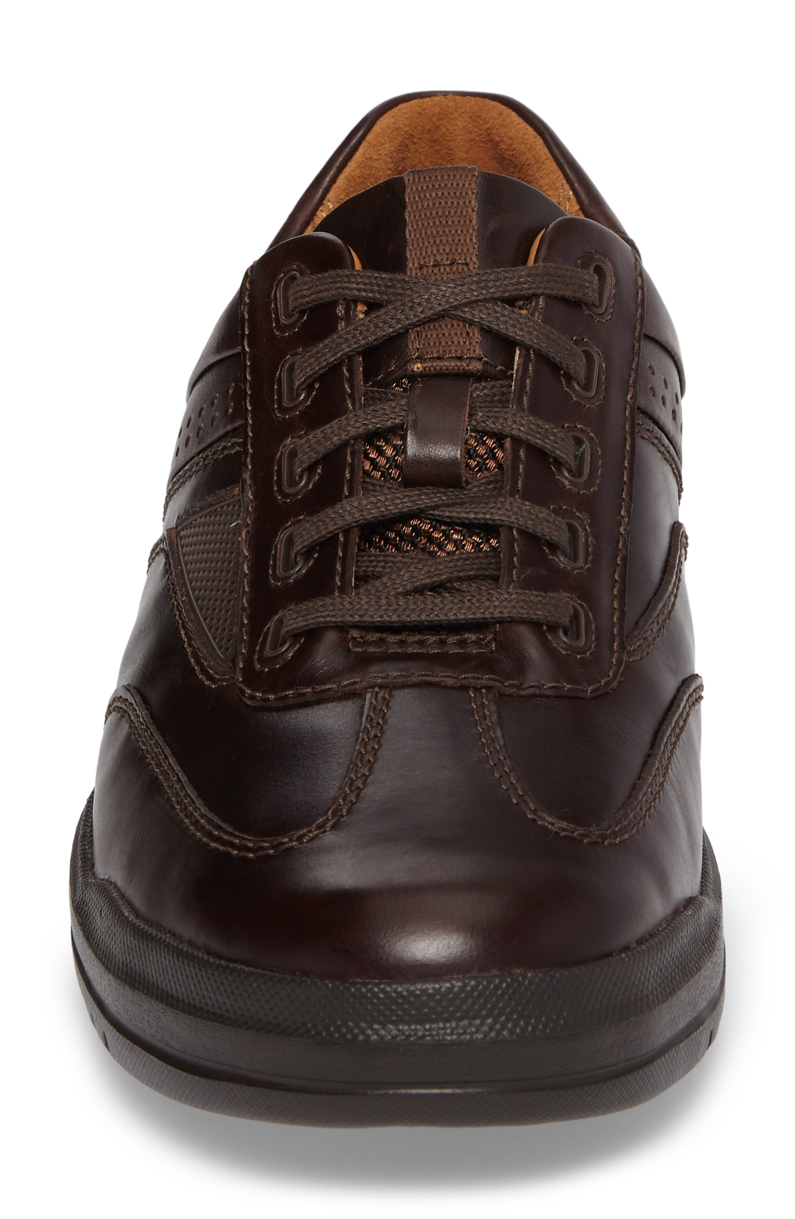 Un.Rhombus Fly Sneaker,                             Alternate thumbnail 4, color,                             Brown Leather