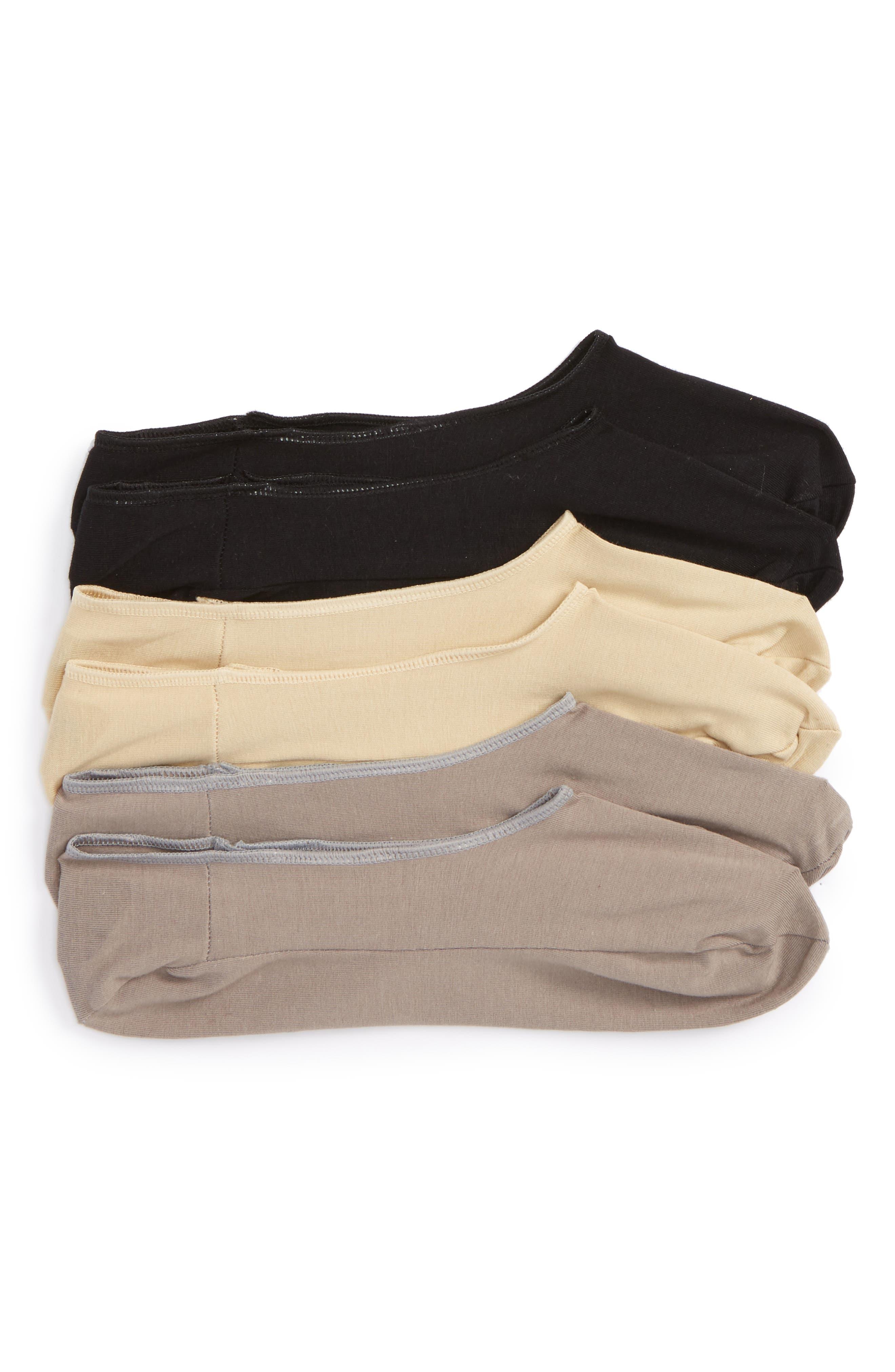 3-Pack Liner Socks,                         Main,                         color, Grey Assorted