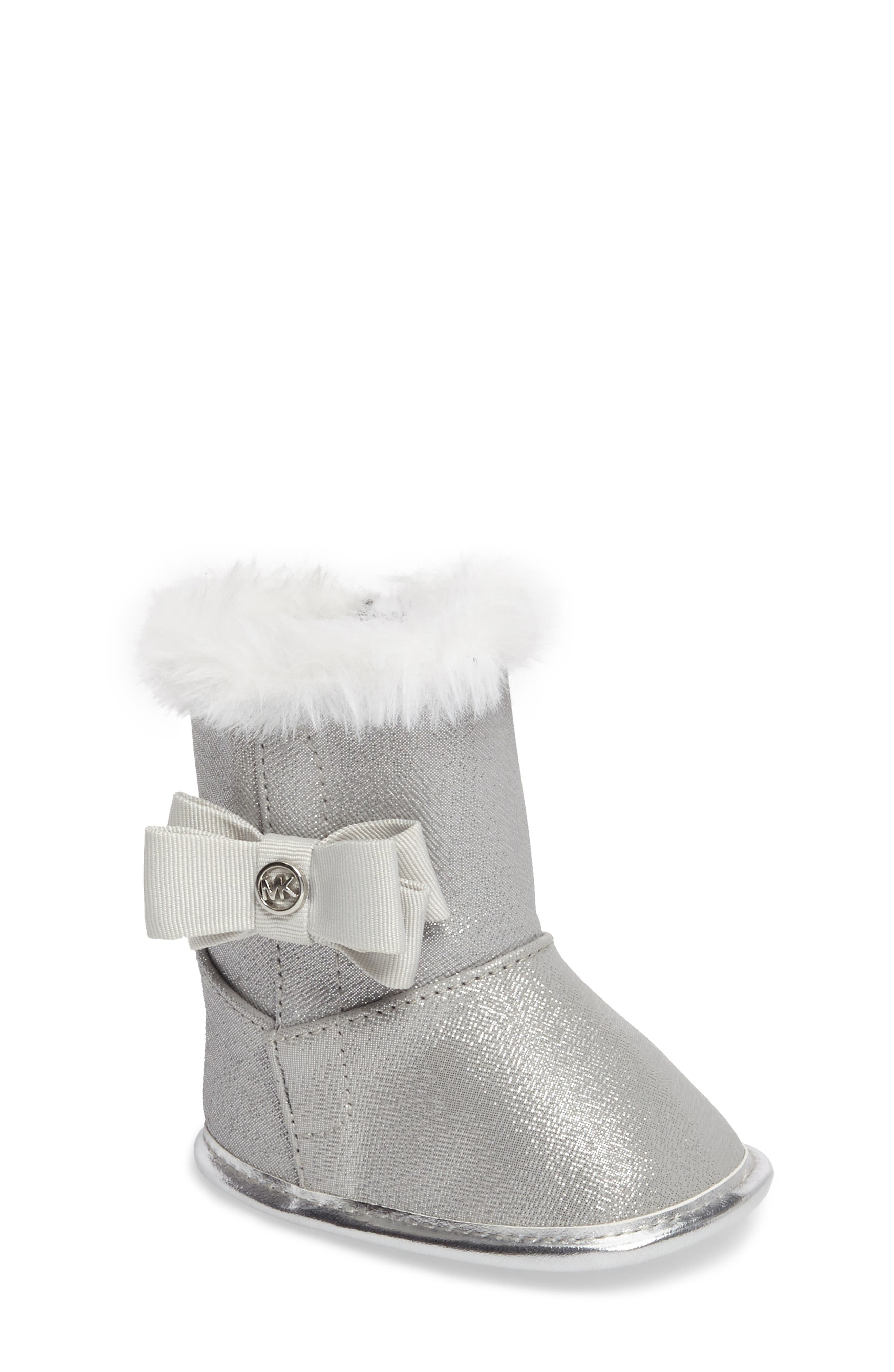MICHAEL Michael Kors Baby Baba Faux Fur Crib Bootie (Baby)