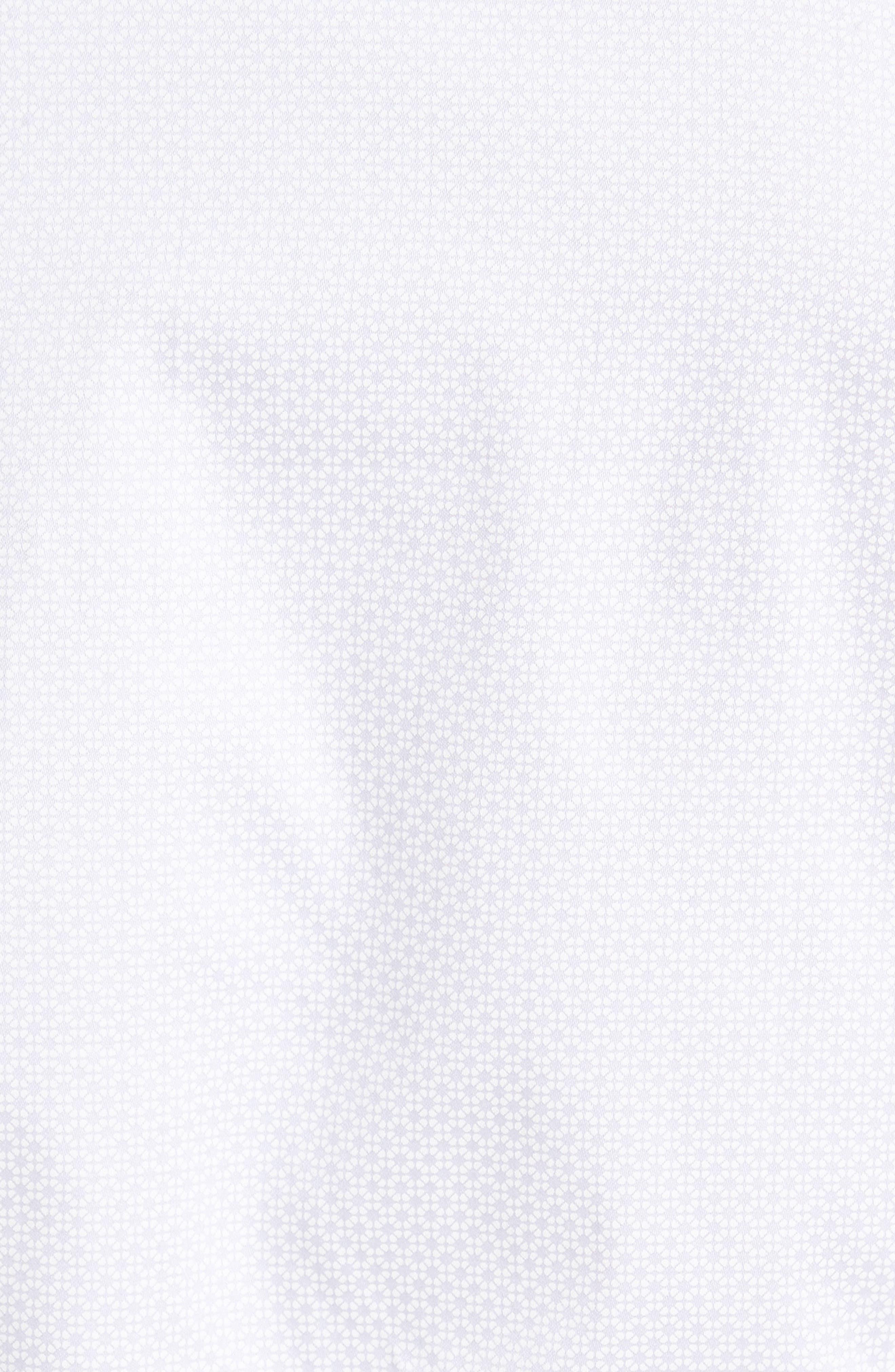 Strazbo Tonal Print Sport Shirt,                             Alternate thumbnail 5, color,                             White