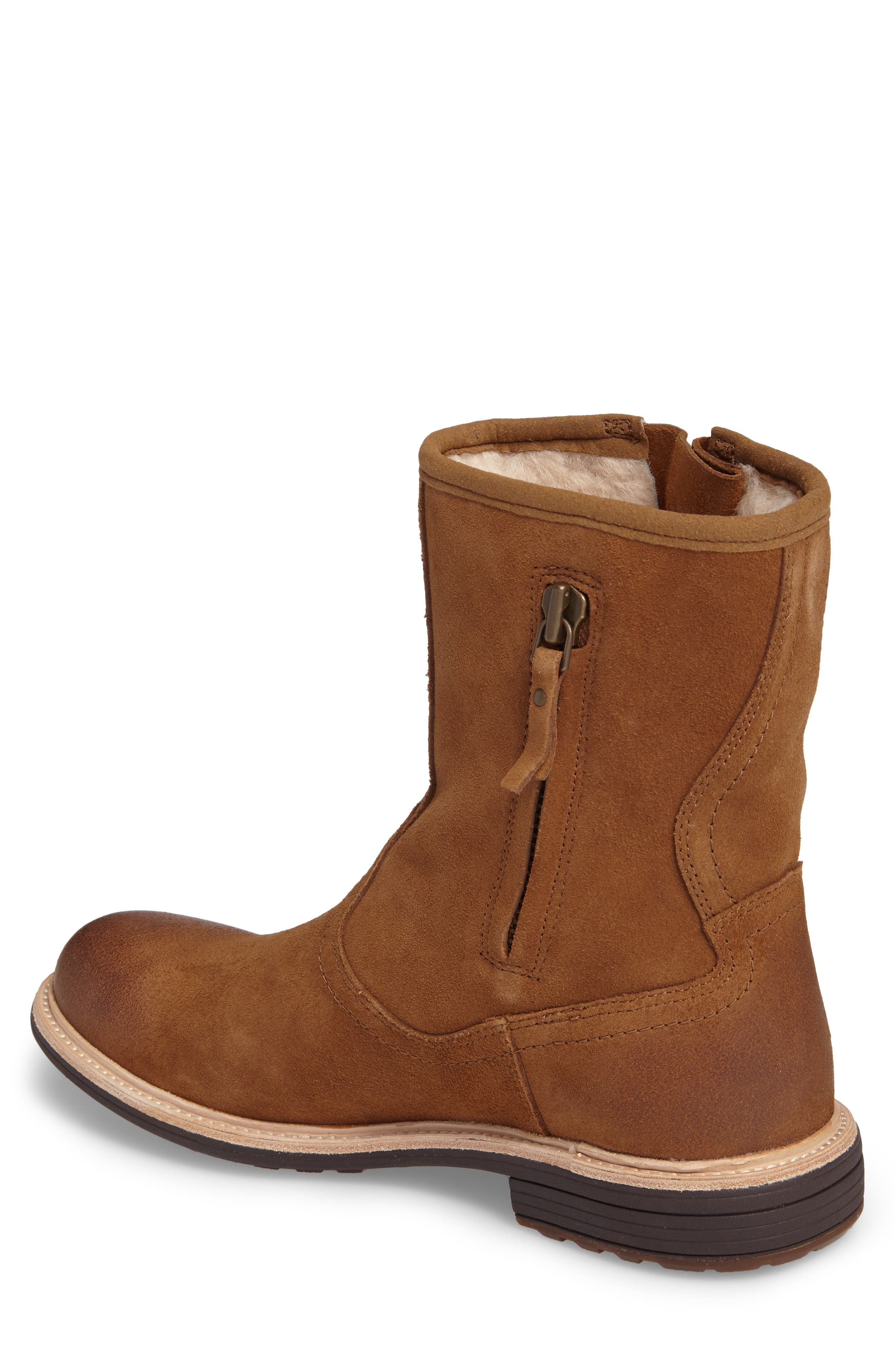 Jaren Zip Boot with Genuine Shearling,                             Alternate thumbnail 2, color,                             Chestnut