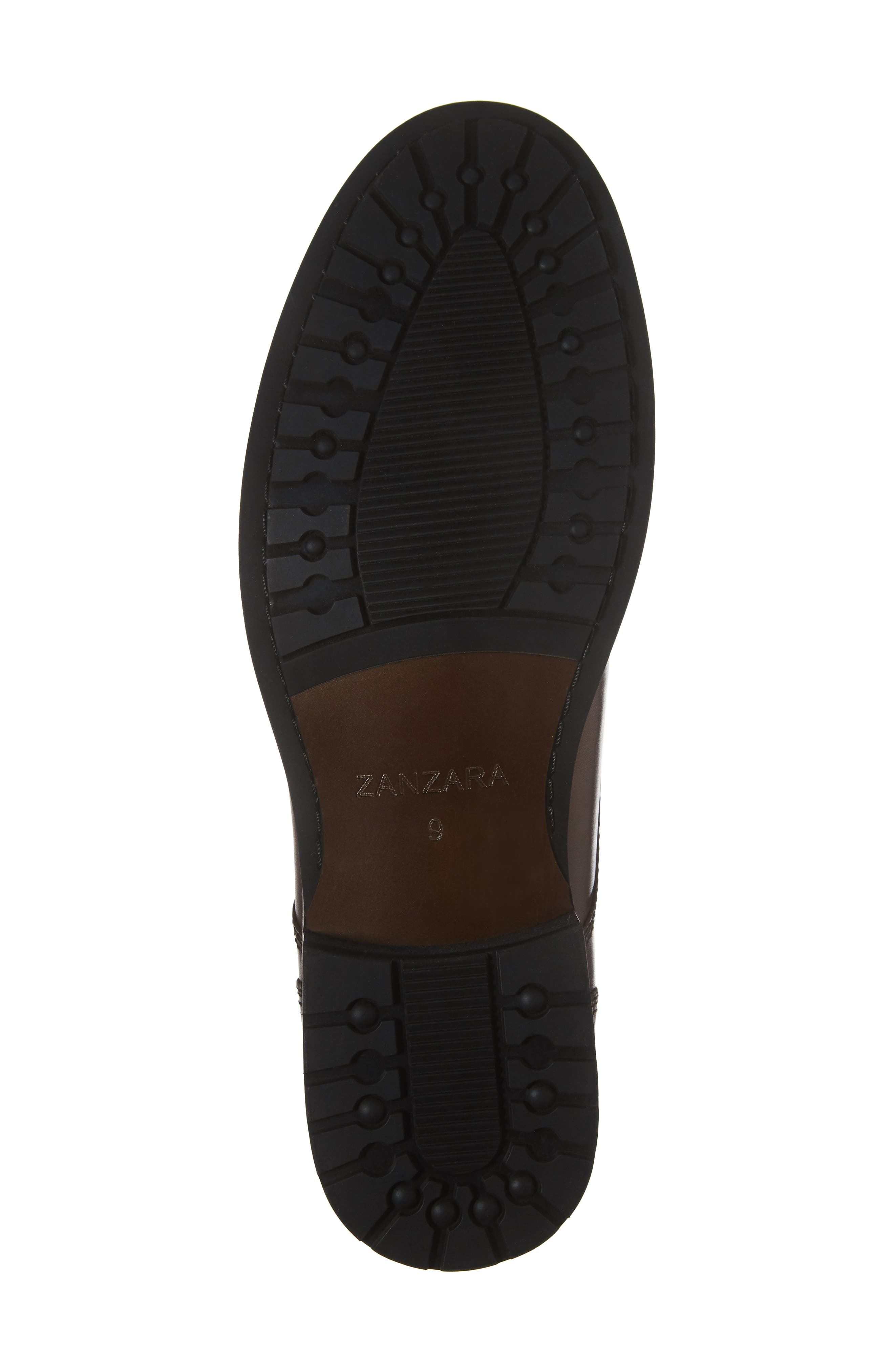 Saar Plain Toe Boot,                             Alternate thumbnail 6, color,                             Brown Leather