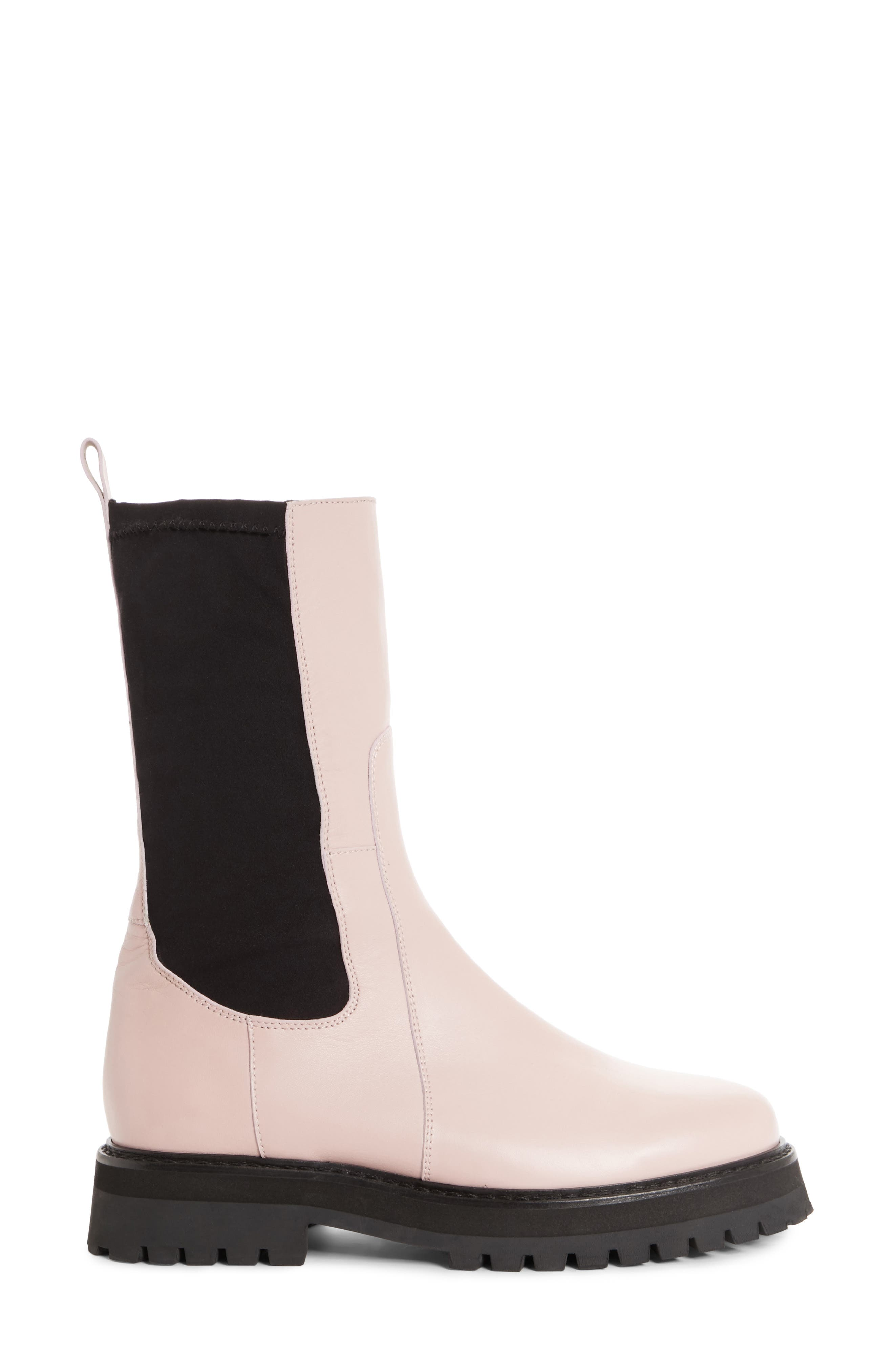 Marques'Almeida Army Boot,                             Alternate thumbnail 3, color,                             Pale Pink