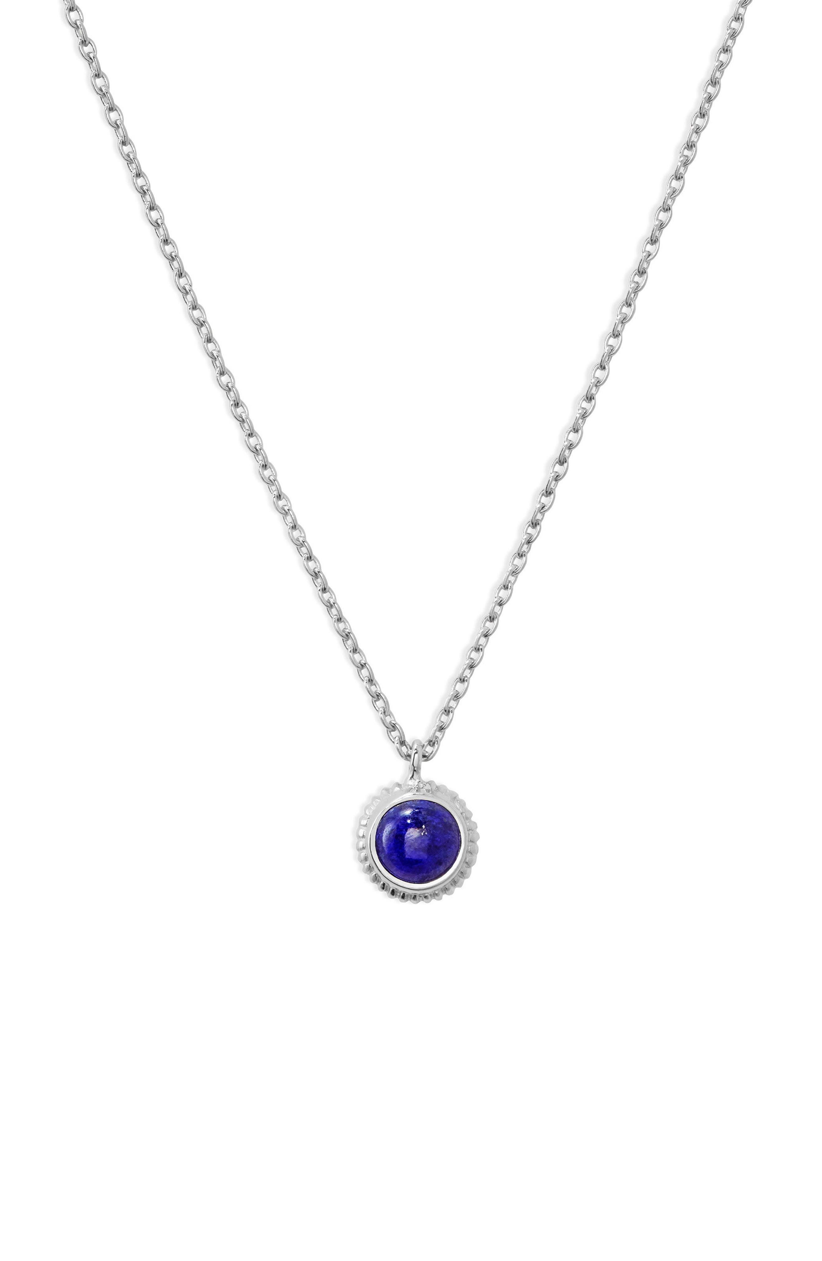 Shinola Semiprecious Stone Pendant Necklace