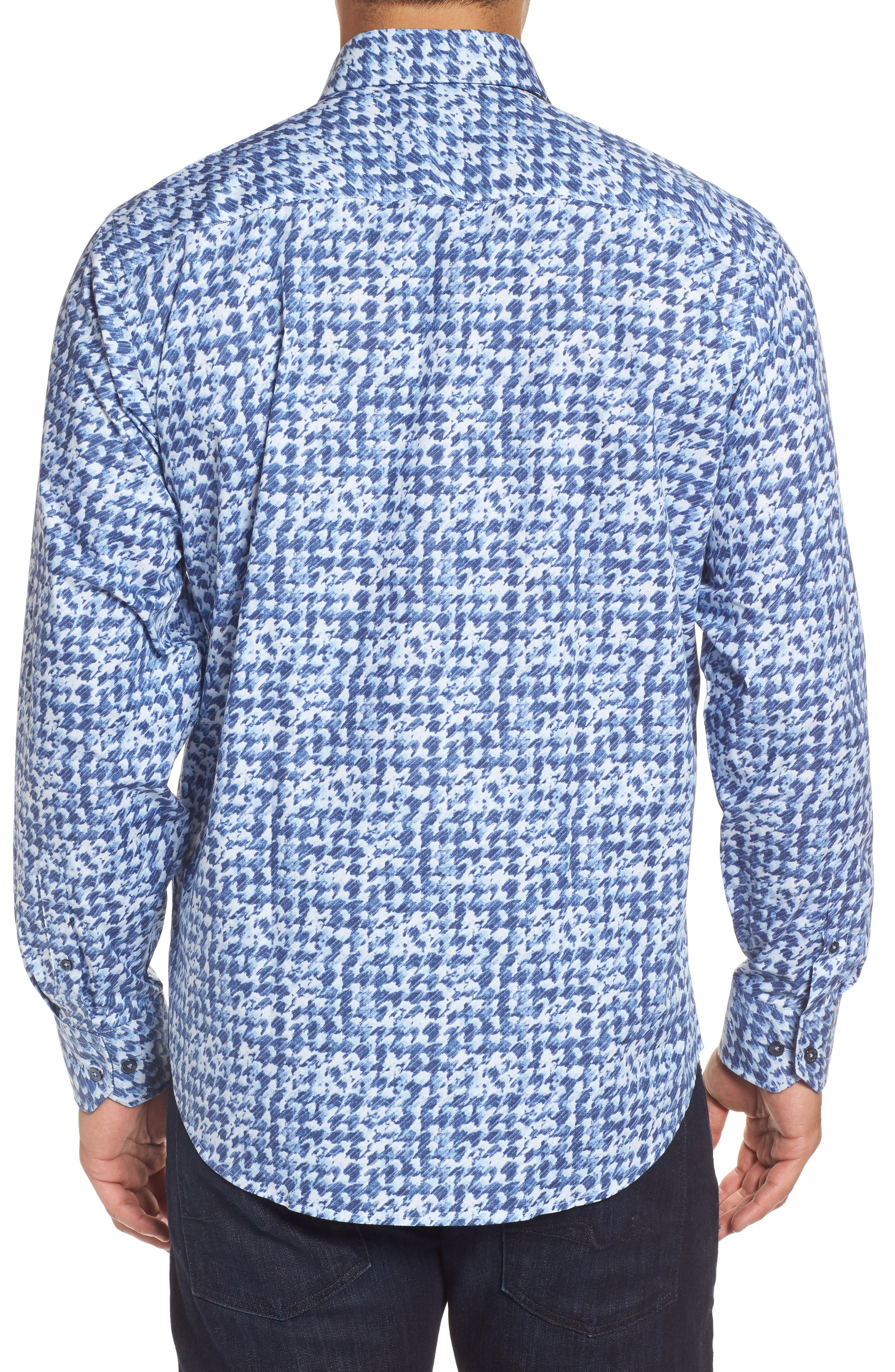 Alternate Image 2  - Bugatchi Classic Fit Patterned Sport Shirt