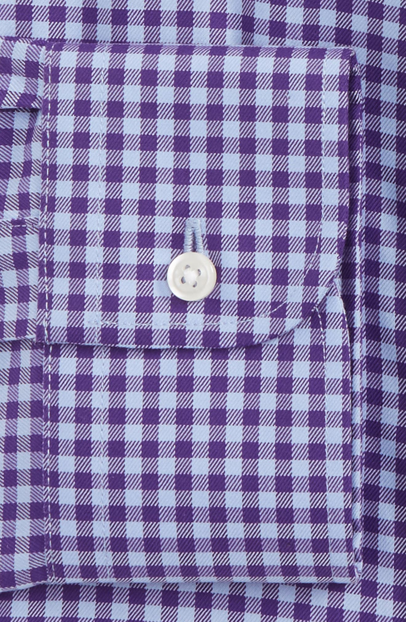 Alternate Image 5  - Nordstrom Men's Shop Trim Fit Non-Iron Gingham Dress Shirt