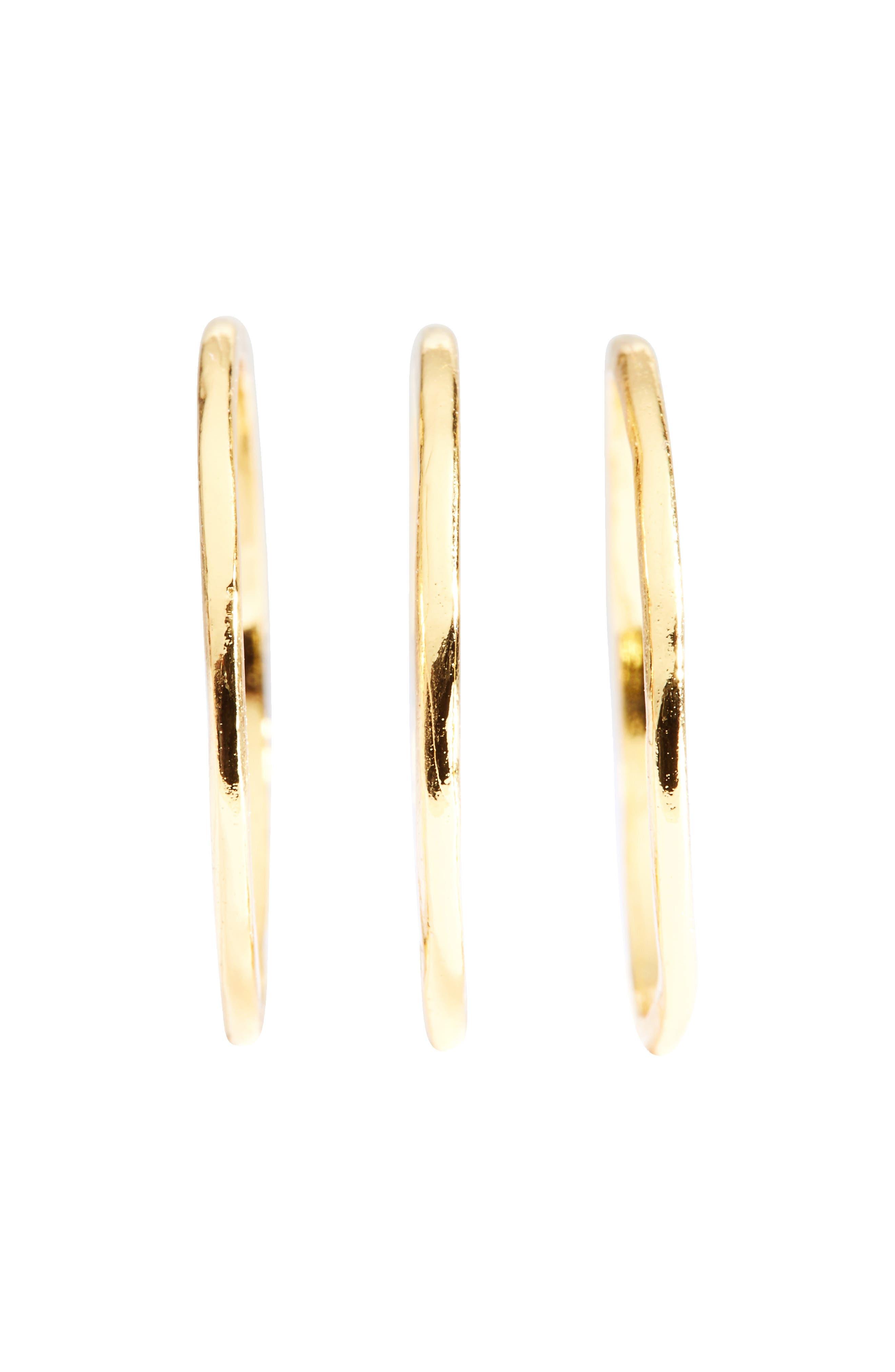 Alternate Image 6  - gorjana 'G Ring' Rings (Set of 3)