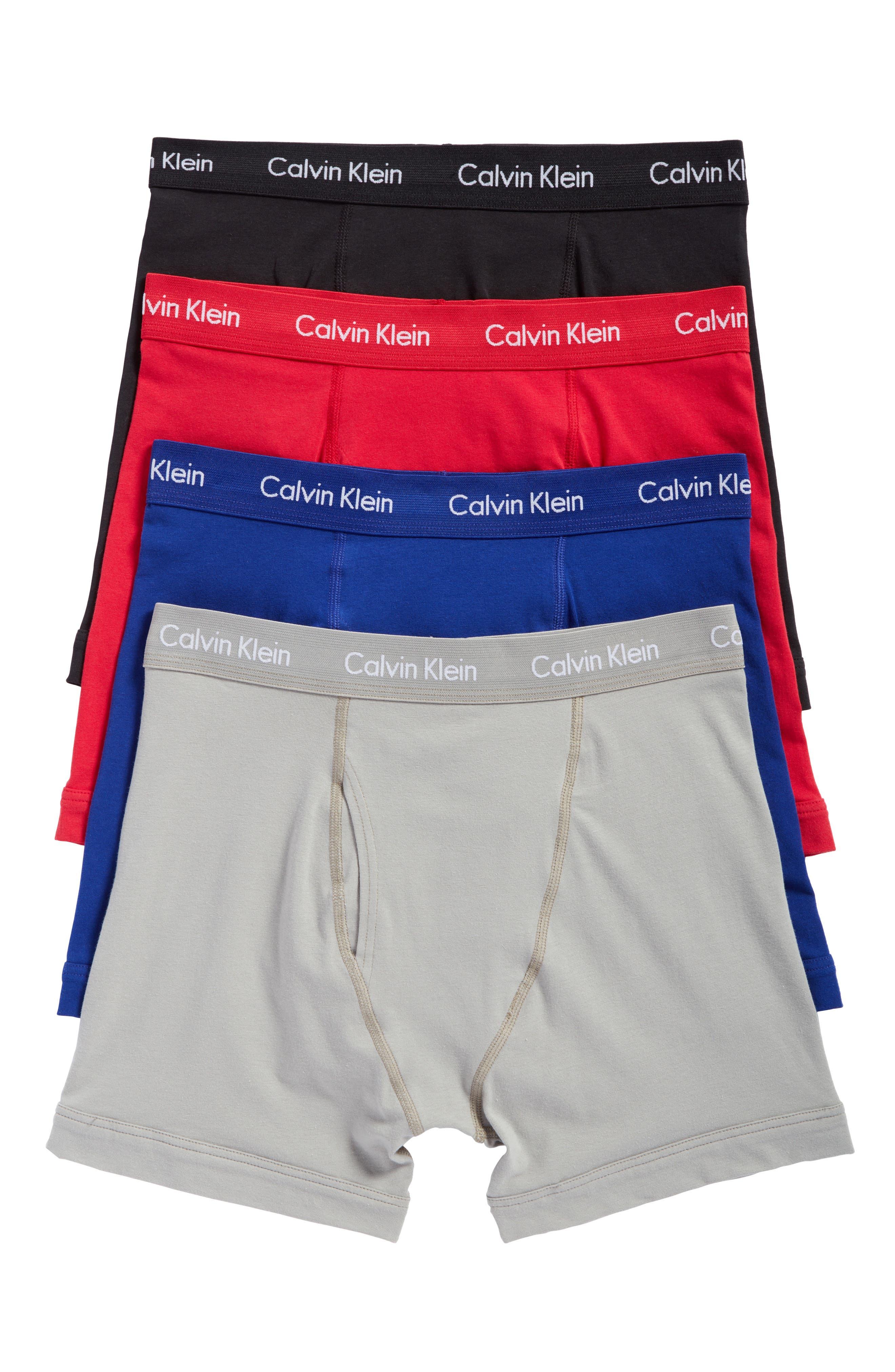 4-Pack Cotton Blend Boxer Briefs,                         Main,                         color, Black W/ Multi Wb