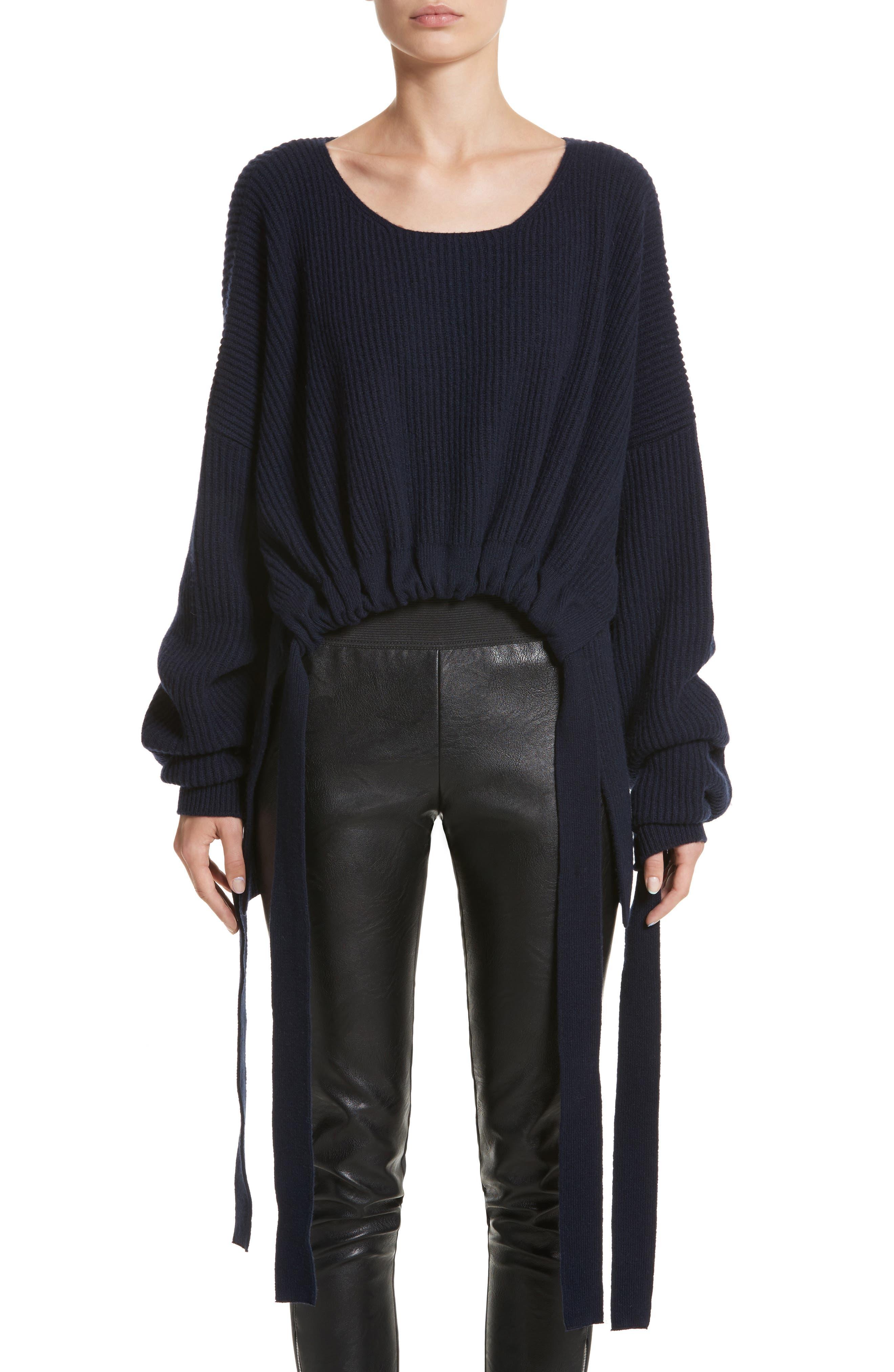 Stella McCartney Gathered Cashmere & Wool Sweater