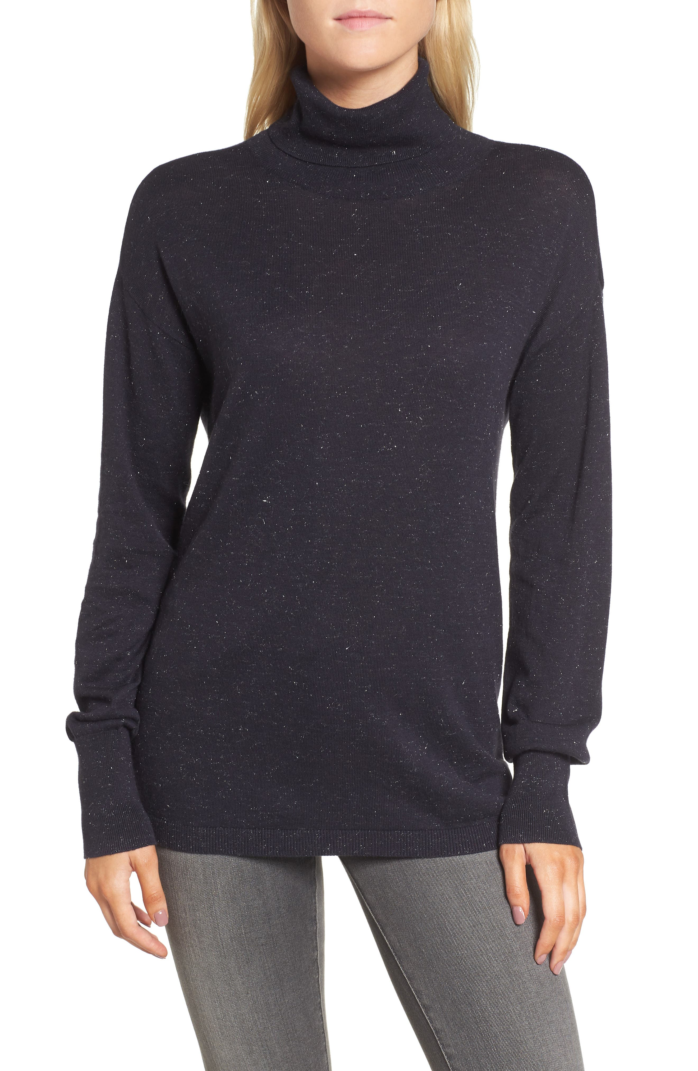 Open Back Sweater,                         Main,                         color, Navy Well