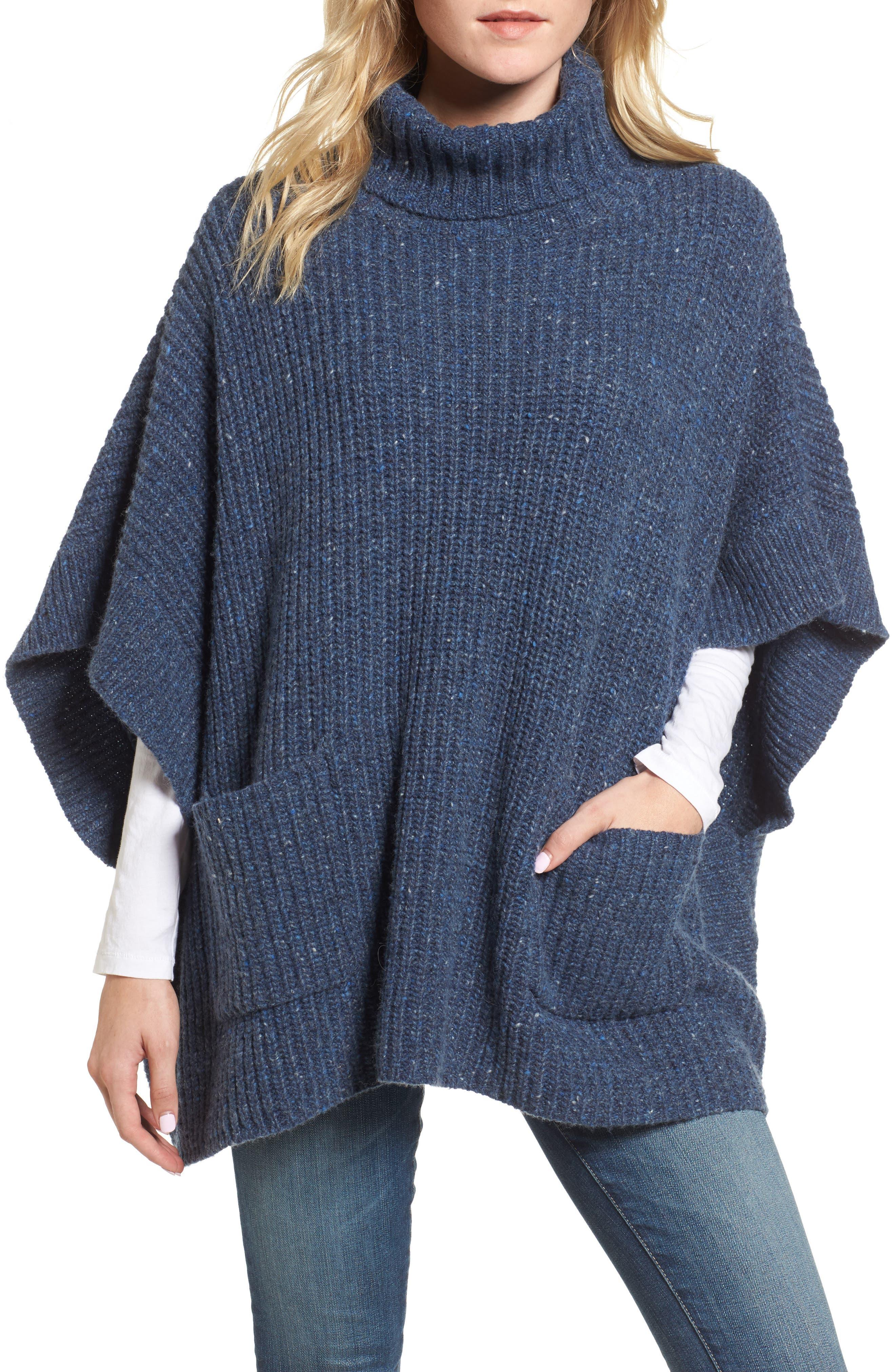 Serina Oversize Sweater,                         Main,                         color, Mull Navy Multi