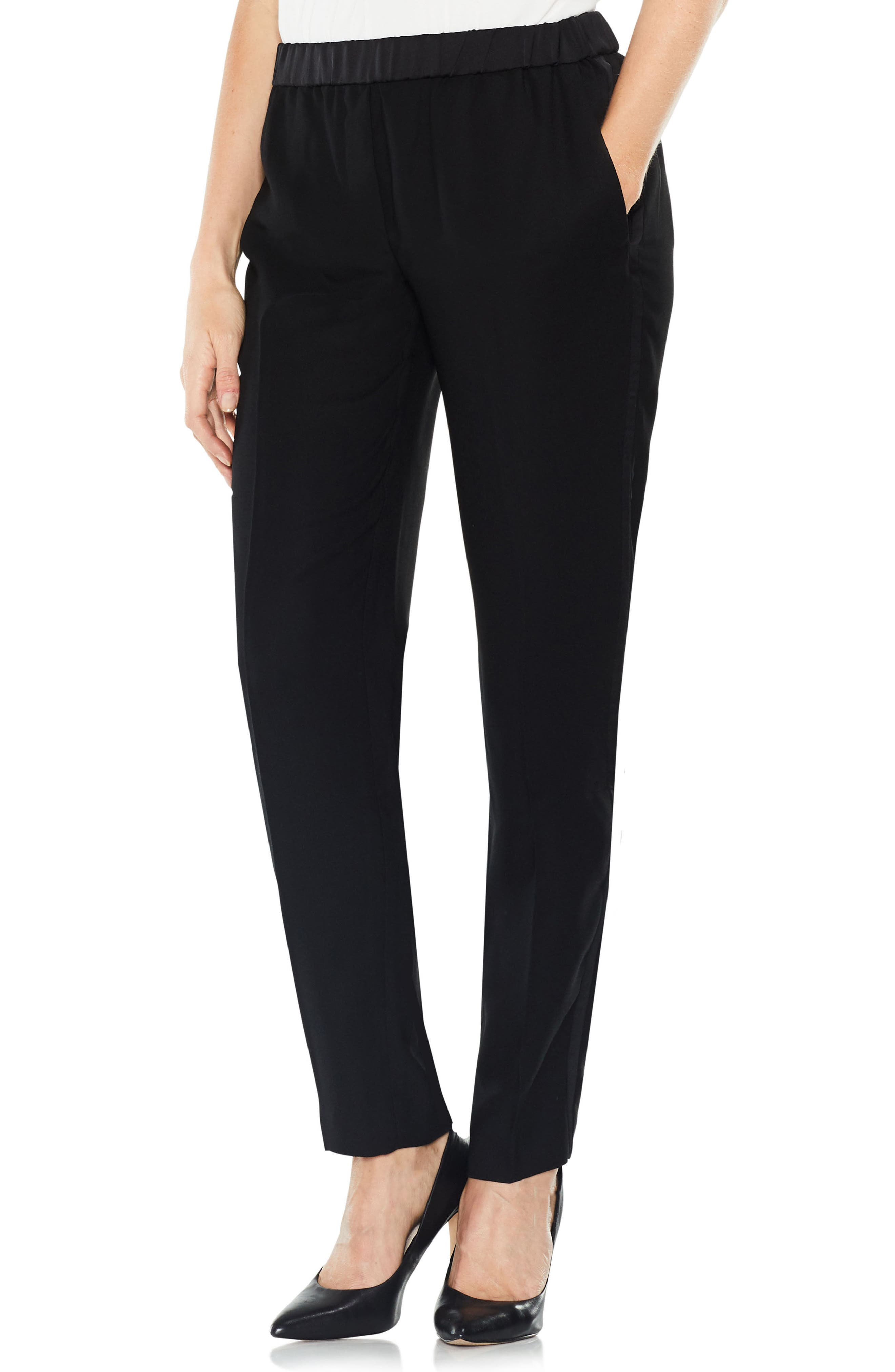 Alternate Image 1 Selected - Vince Camuto Matte Shine Slim Leg Crepe Pants