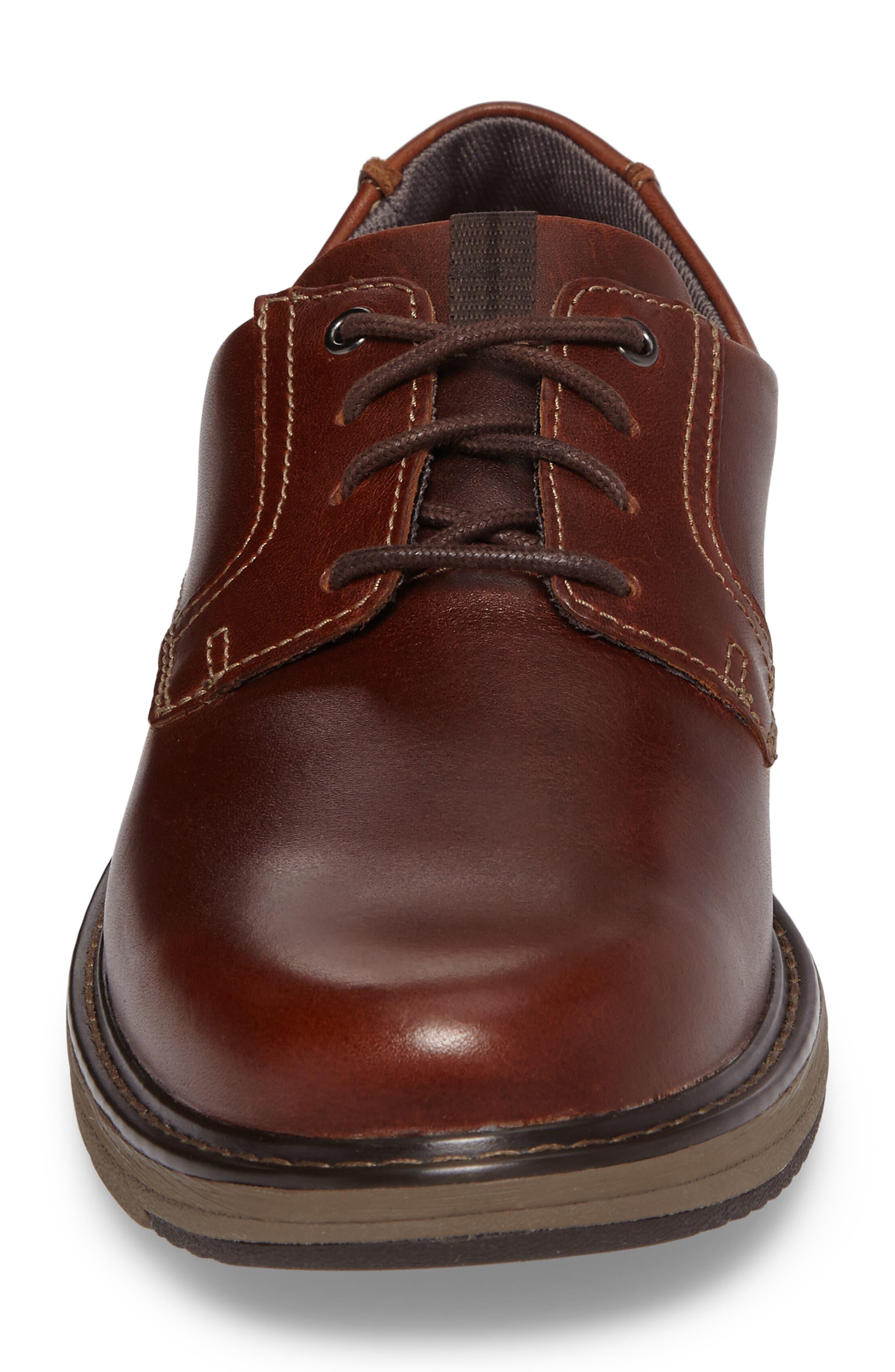 Cushox Plain Toe Derby,                             Alternate thumbnail 4, color,                             Dark Tan Leather