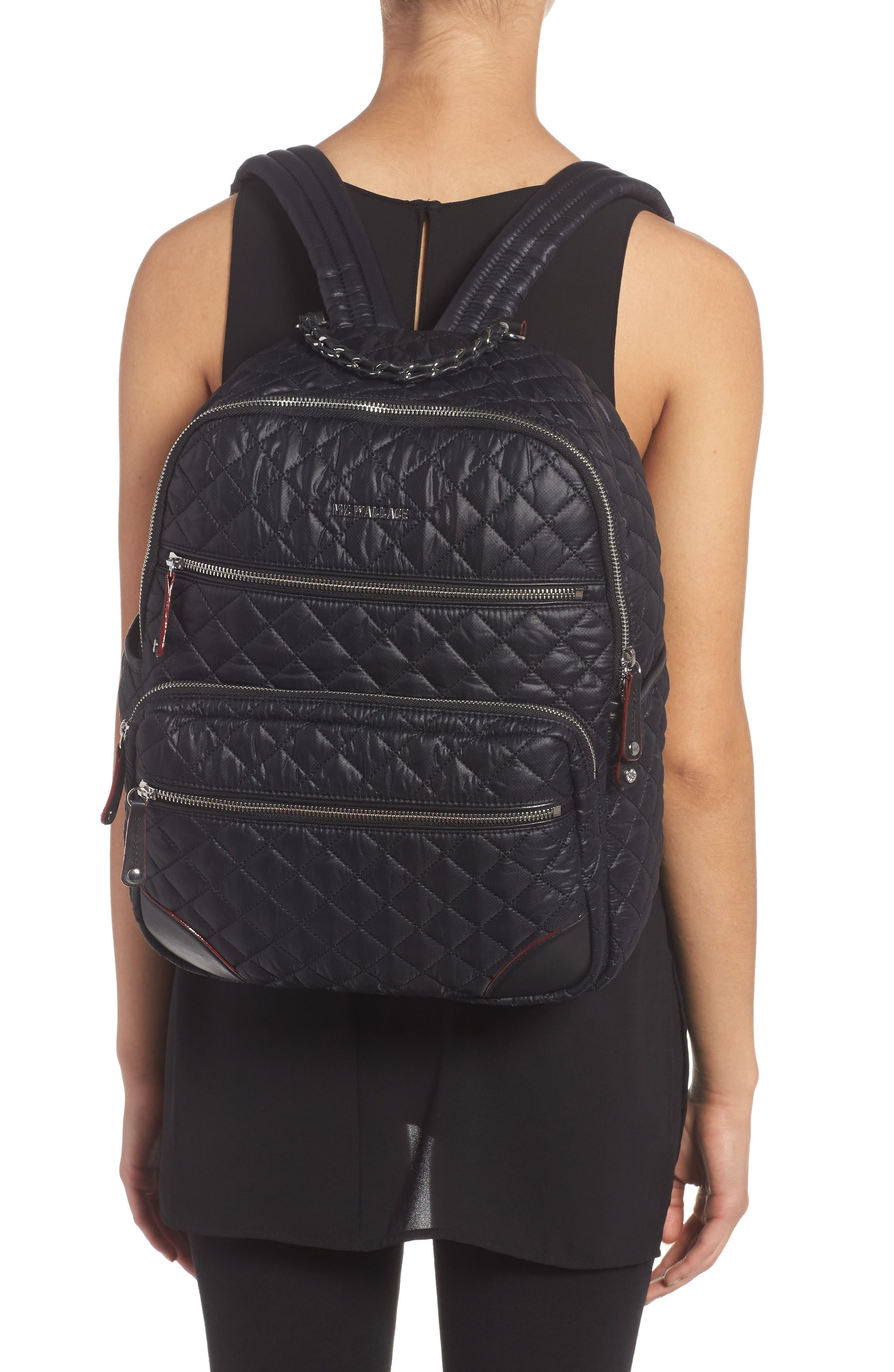 Alternate Image 2  - MZ Wallace Crosby Quilted Oxford Nylon Backpack