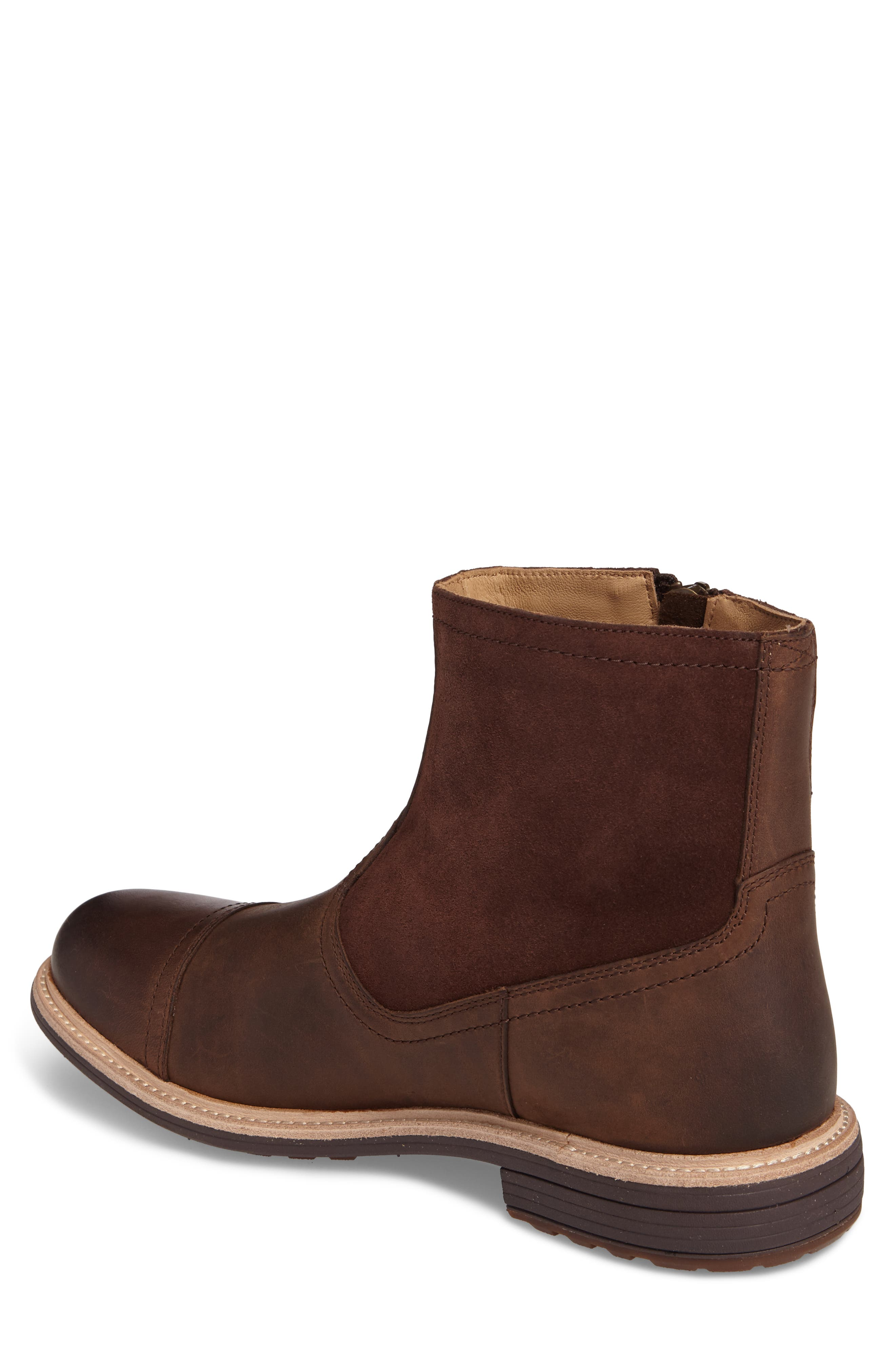 Dalvin Zip Boot with Genuine Shearling,                             Alternate thumbnail 2, color,                             Grizzly