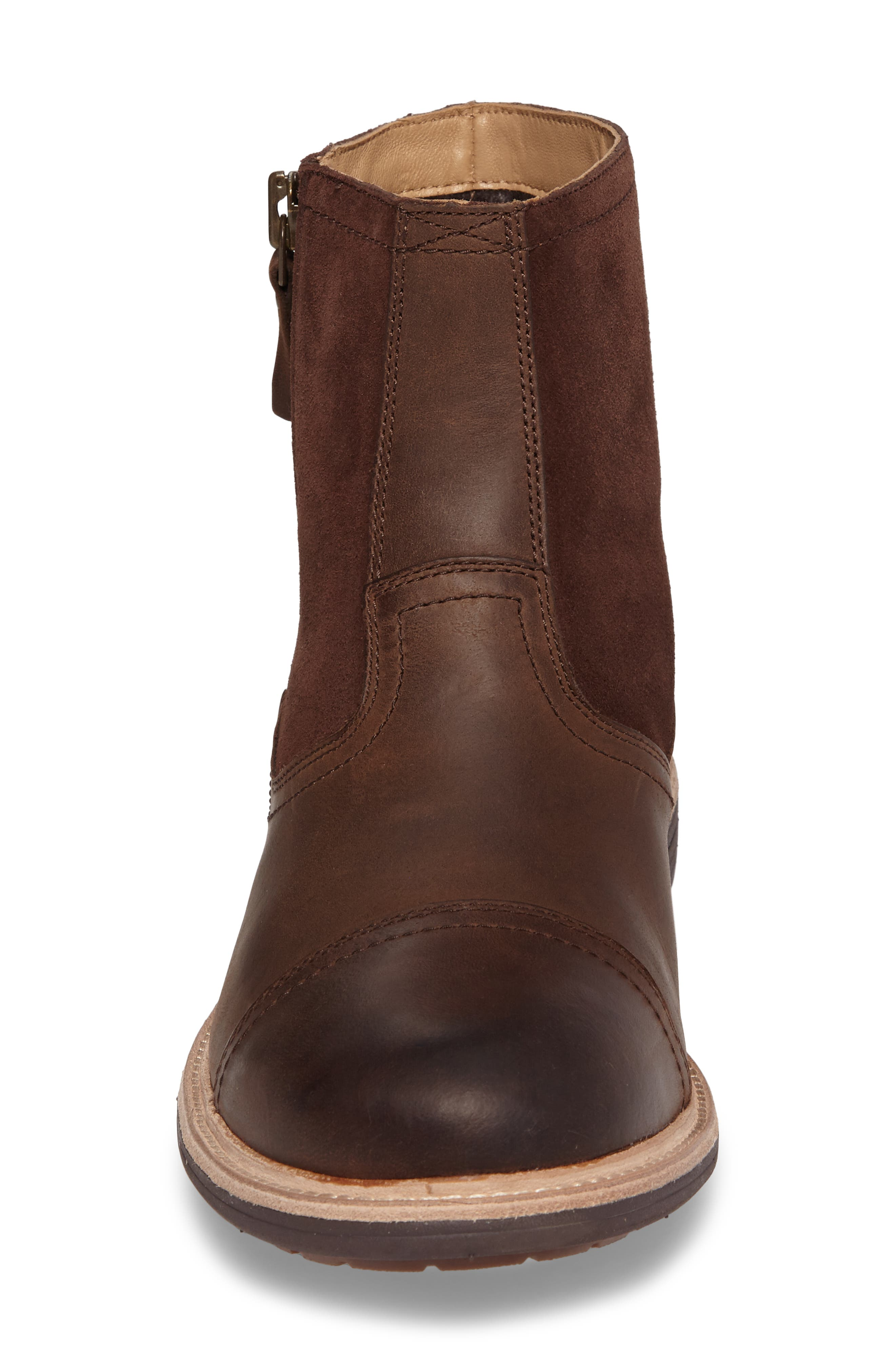 Dalvin Zip Boot with Genuine Shearling,                             Alternate thumbnail 4, color,                             Grizzly