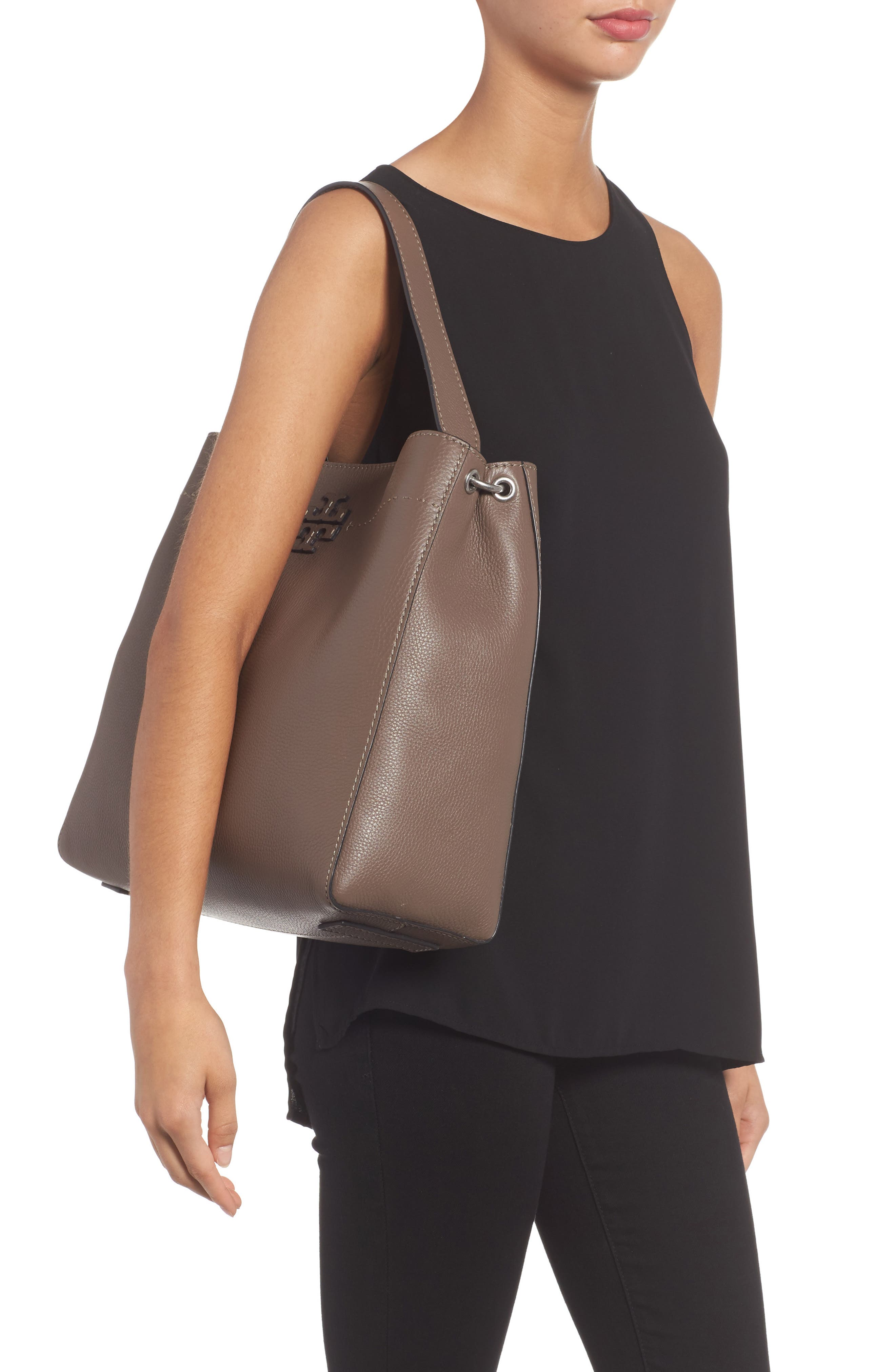Alternate Image 2  - Tory Burch McGraw Leather Hobo
