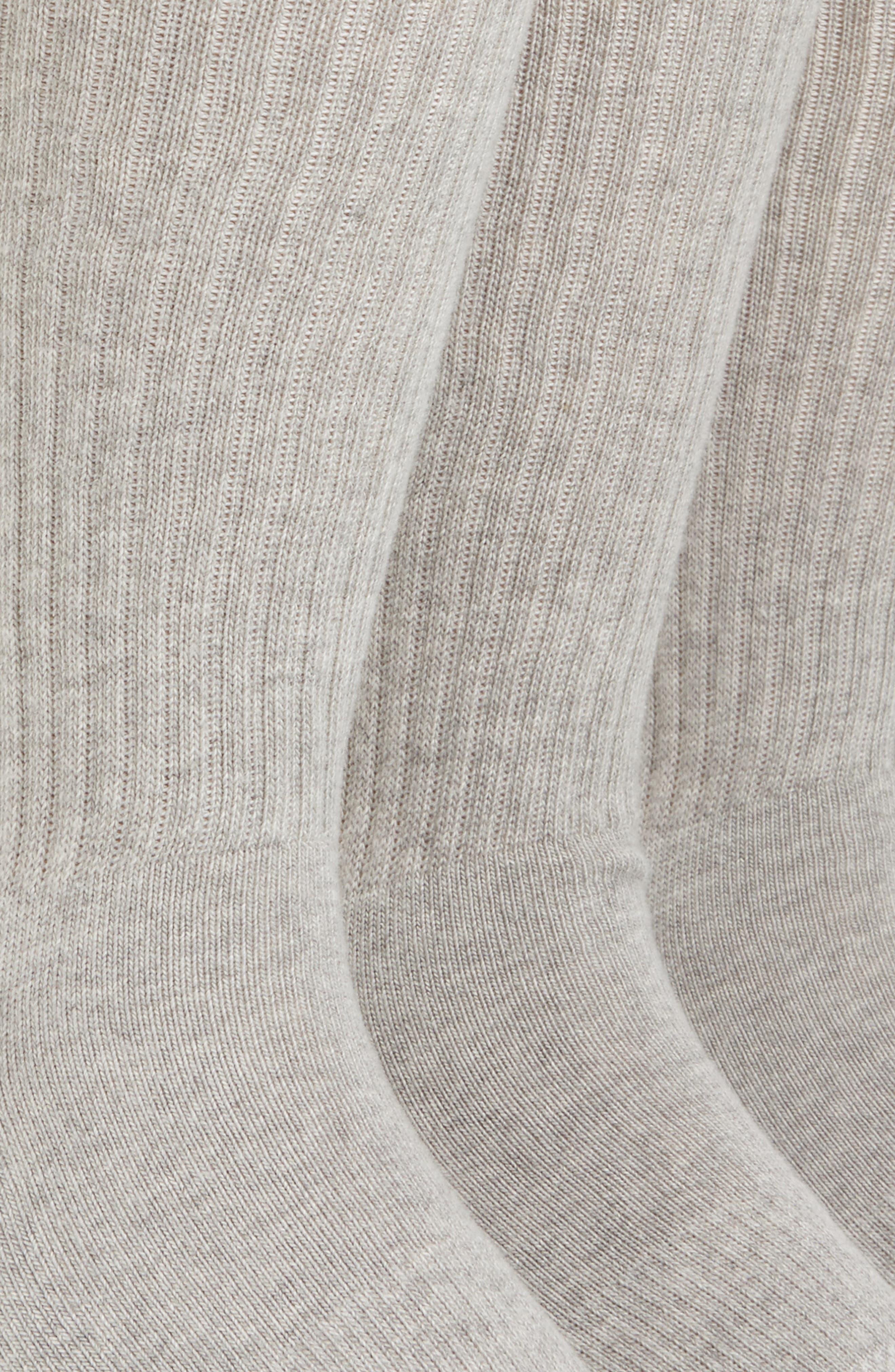 Alternate Image 2  - Nordstrom Men's Shop 3-Pack Crew Cut Athletic Socks (King Size)