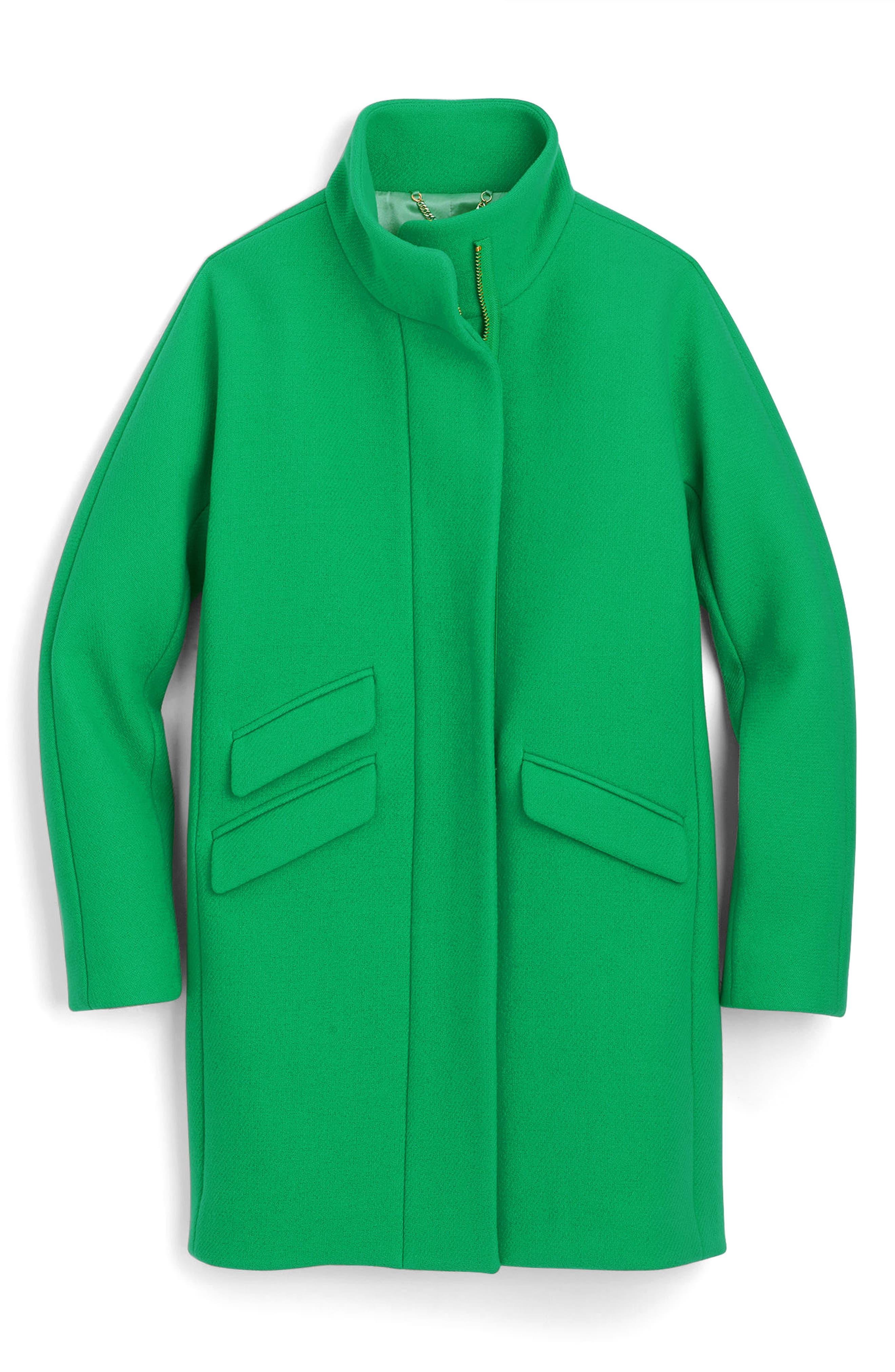 Main Image - J.Crew Stadium Cloth Cocoon Coat (Regular & Petite)