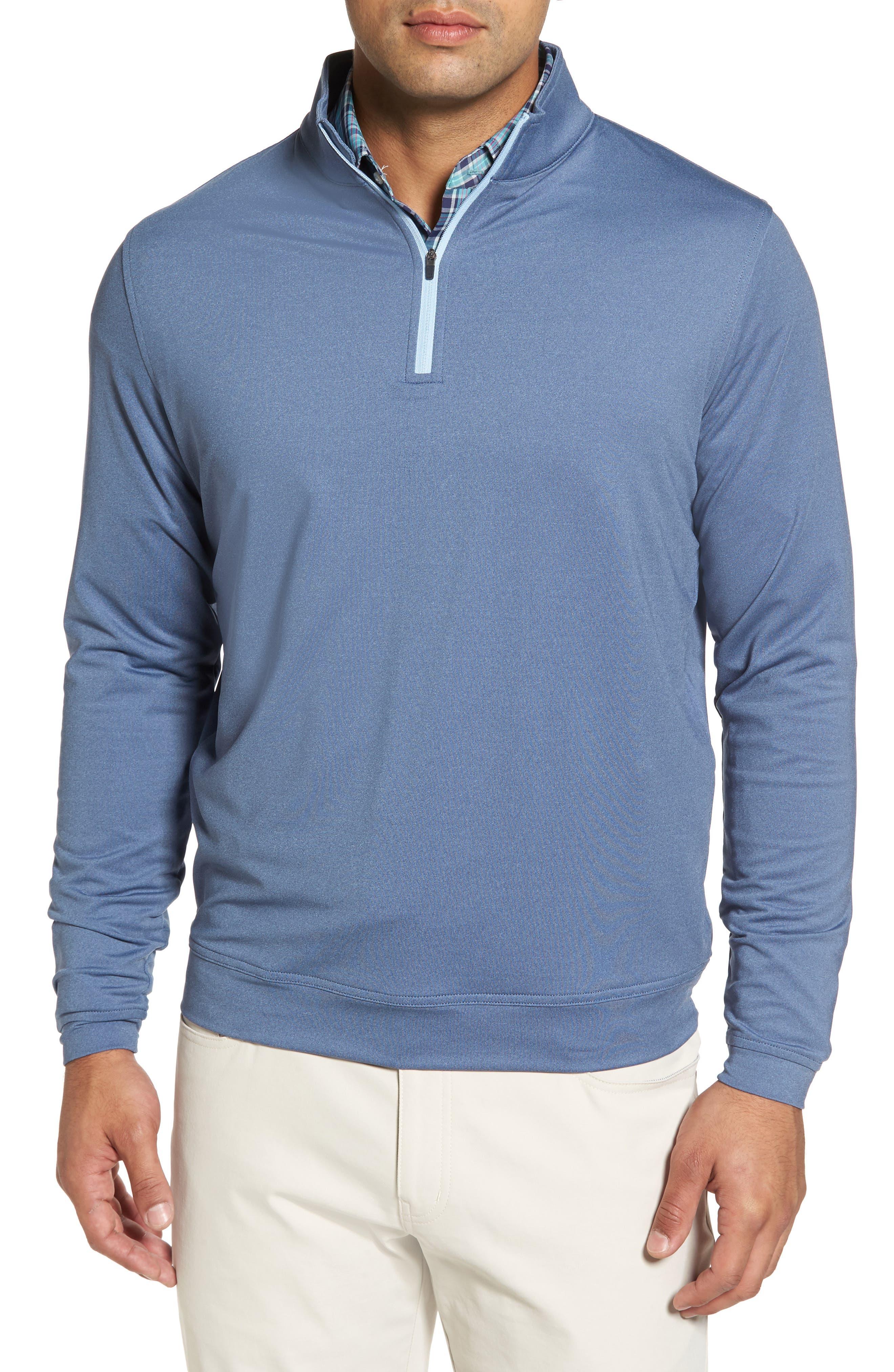 Alternate Image 1 Selected - Peter Millar Perth Quarter Zip Stretch Pullover