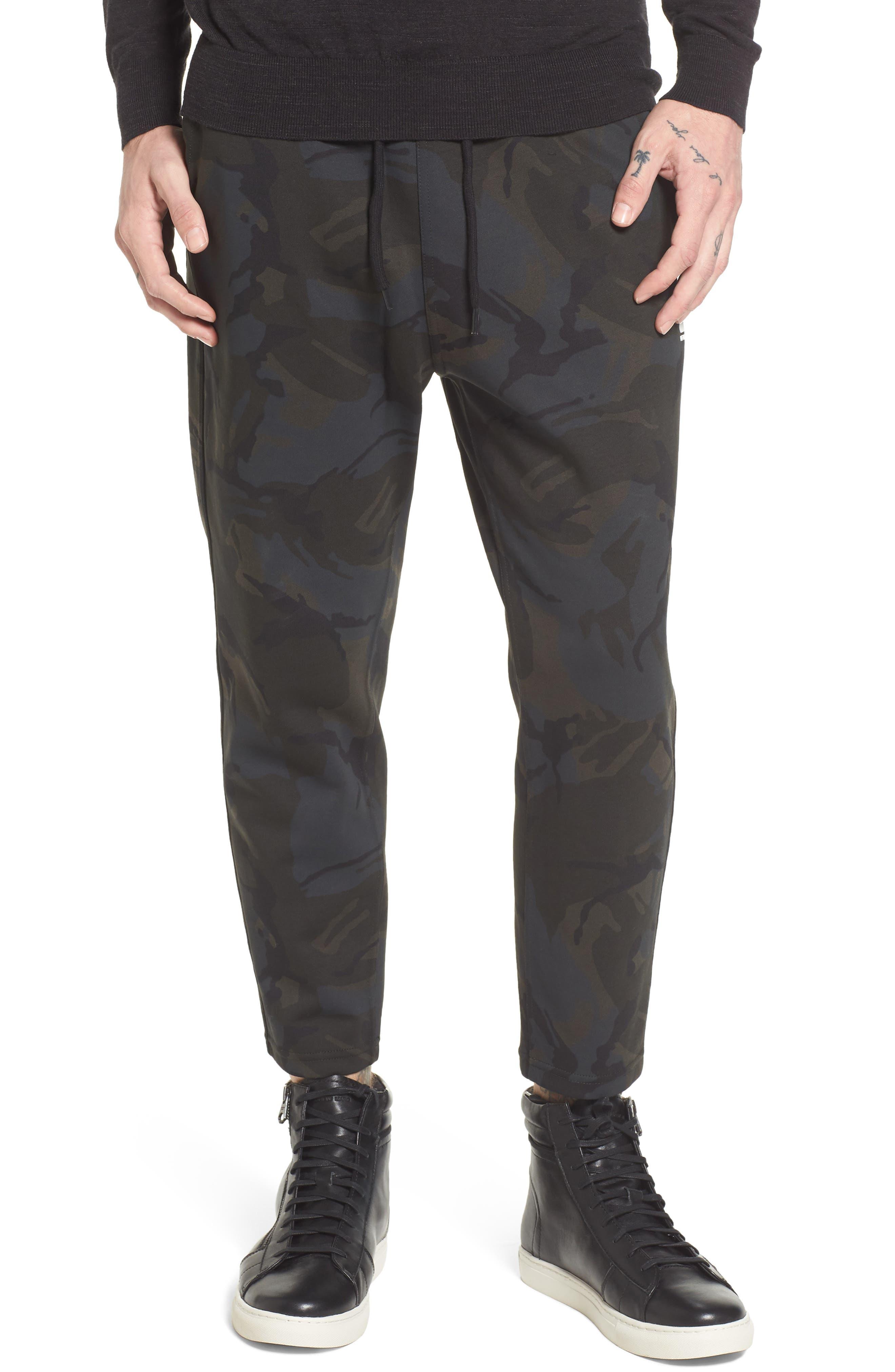 Core Crop Sweatpants,                         Main,                         color, Grey