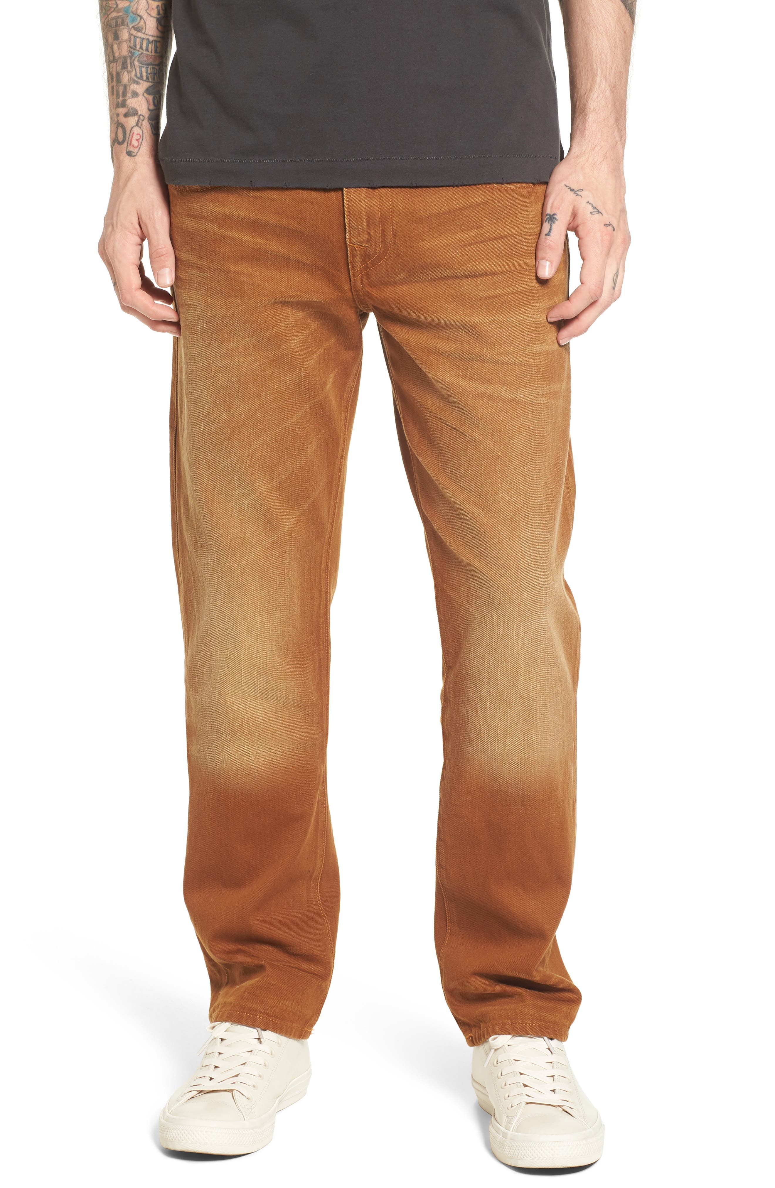 Geno Straight Fit Jeans,                         Main,                         color, Golden Road