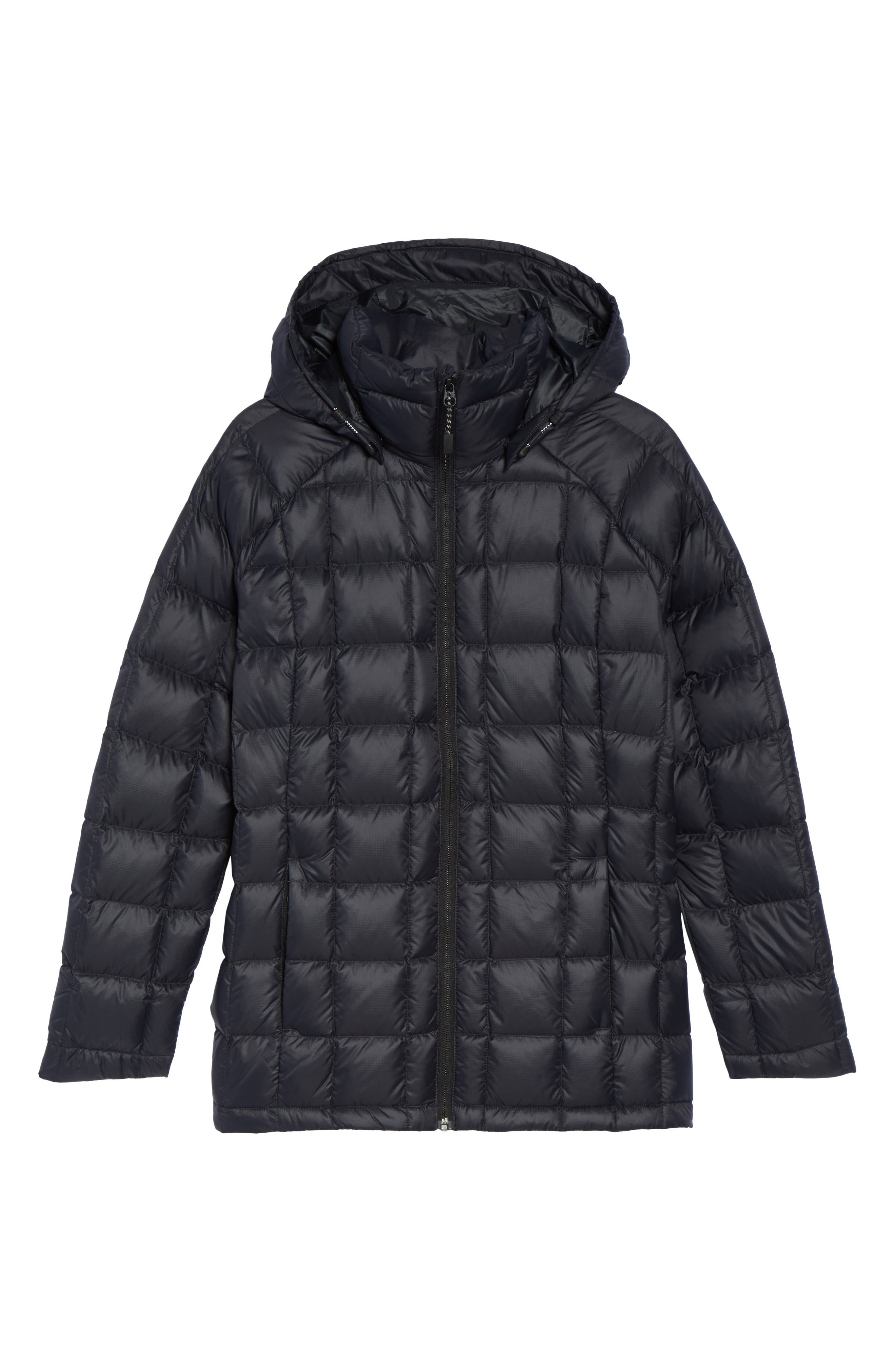 AK Baker Waterproof Quilted Down Insulator Jacket with Removable Hood,                             Alternate thumbnail 7, color,                             True Black