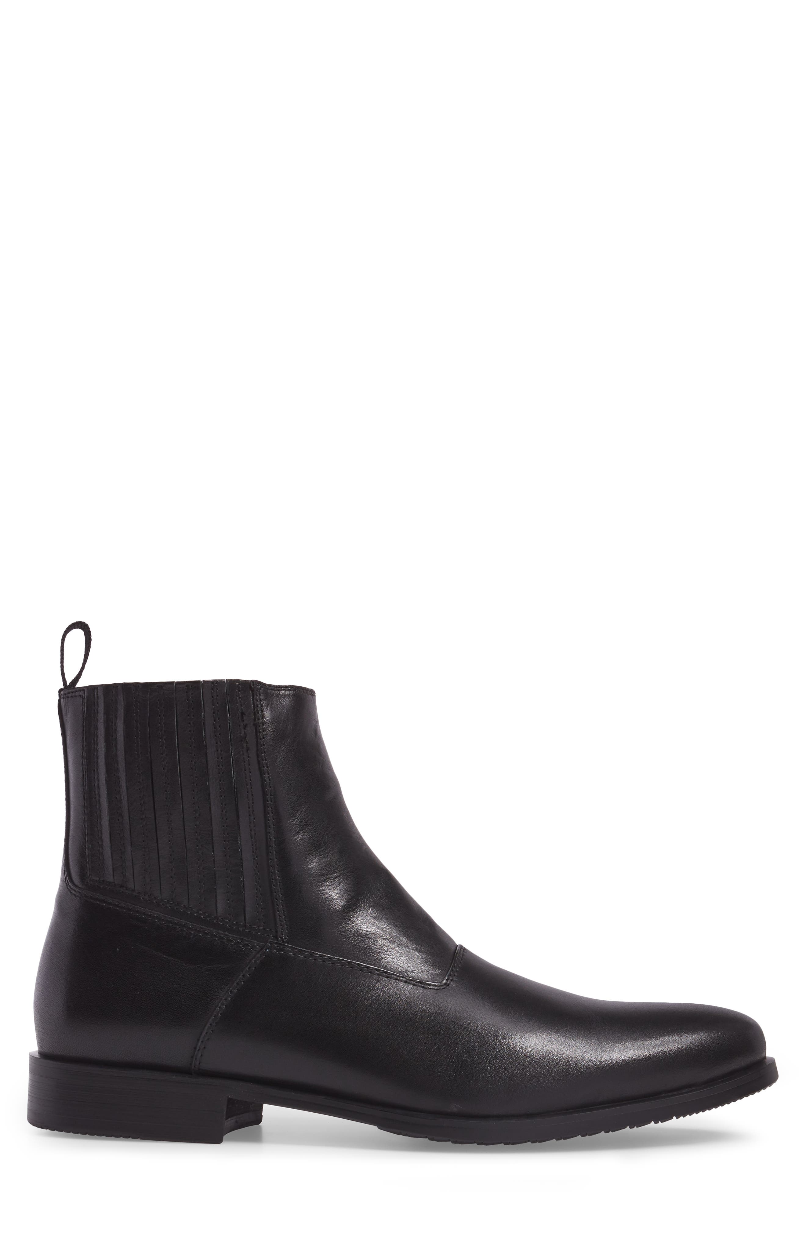 Guardi Zip Boot,                             Alternate thumbnail 3, color,                             Black Leather