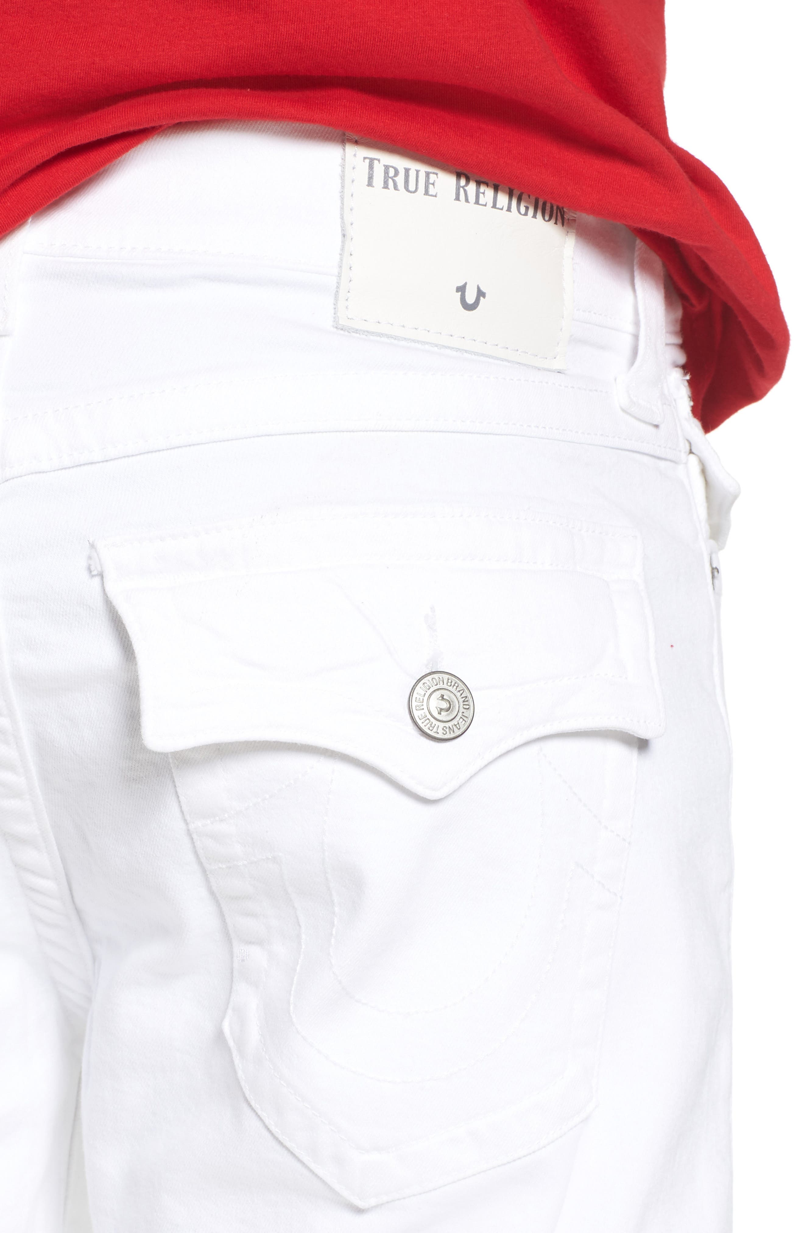 Alternate Image 4  - True Religion Brand Jeans Ricky Relaxed Fit Jeans (Optic Stone)