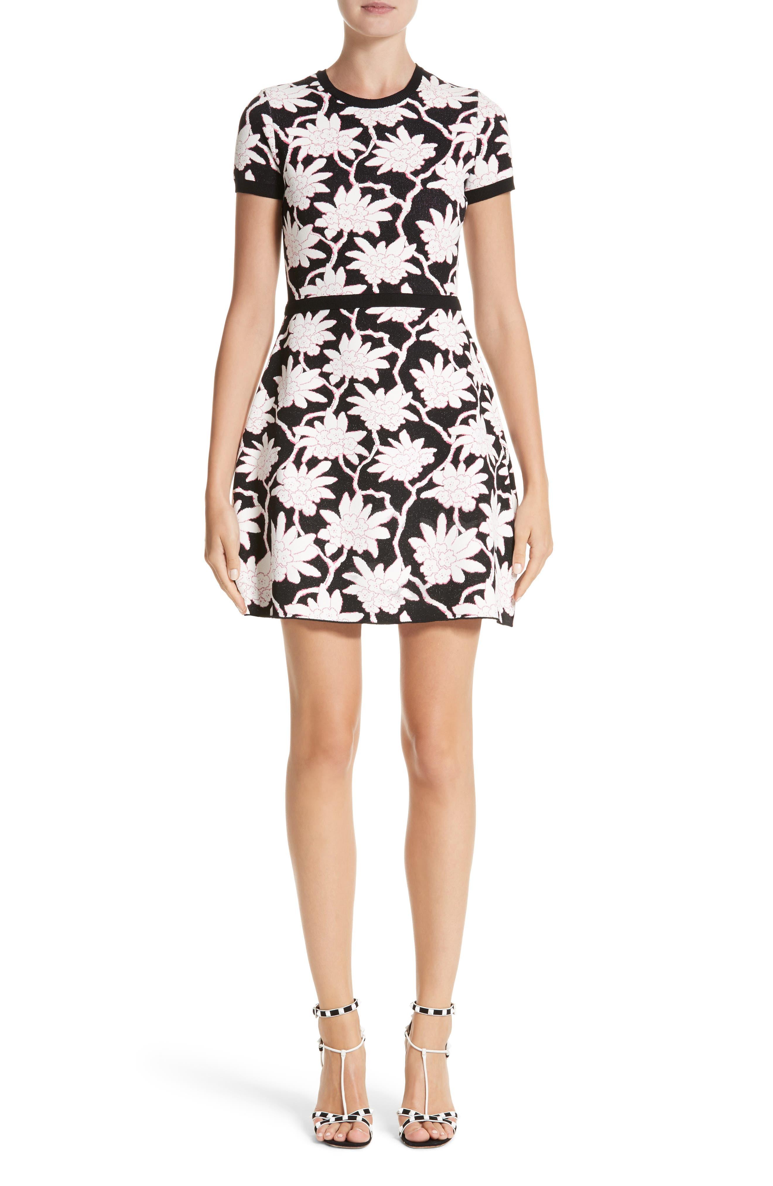 Main Image - Valentino Rhododendron Jacquard Dress