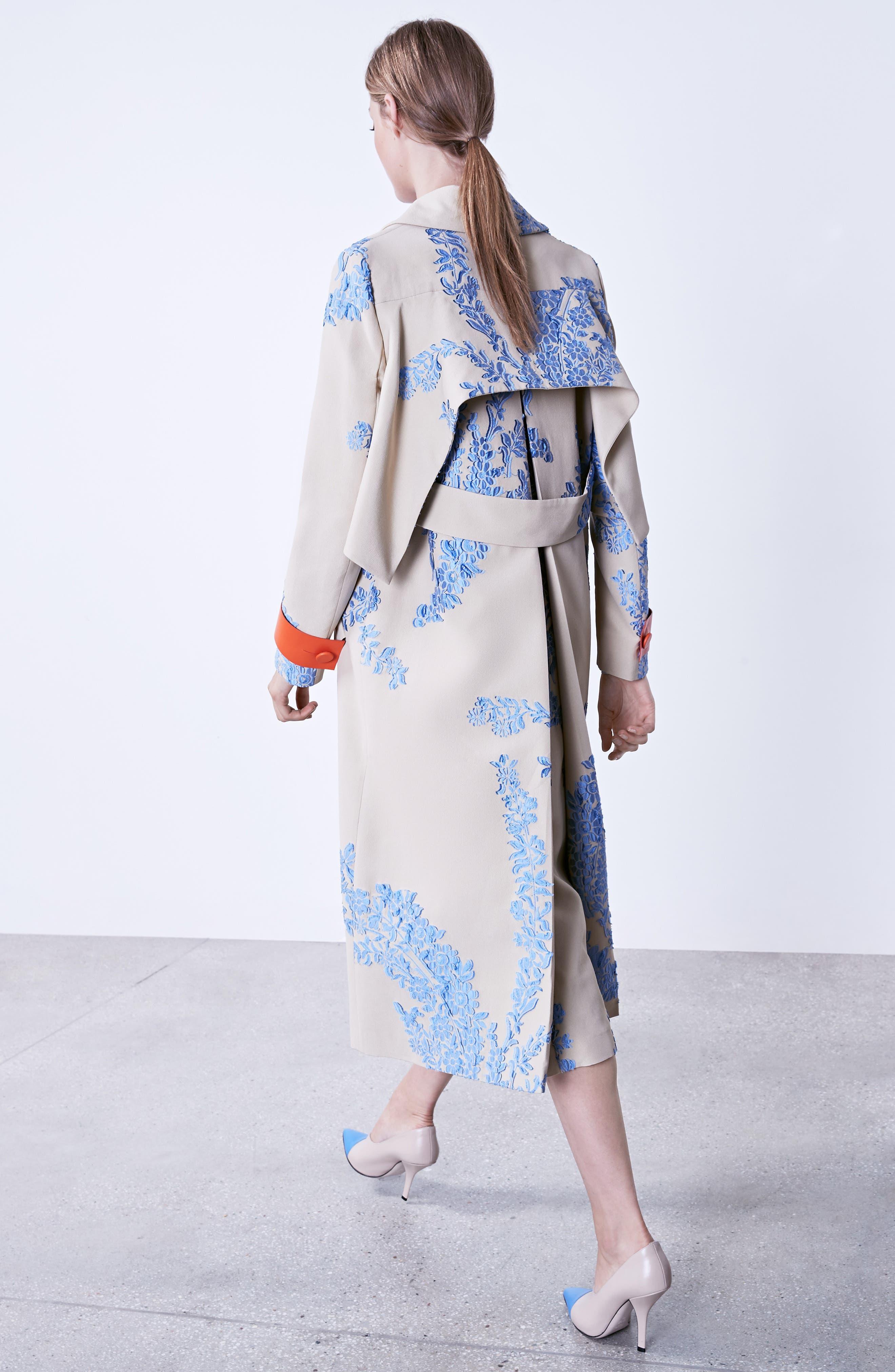 Drape Silk Crêpe de Chine Blouse,                             Alternate thumbnail 7, color,                             Faith Blue