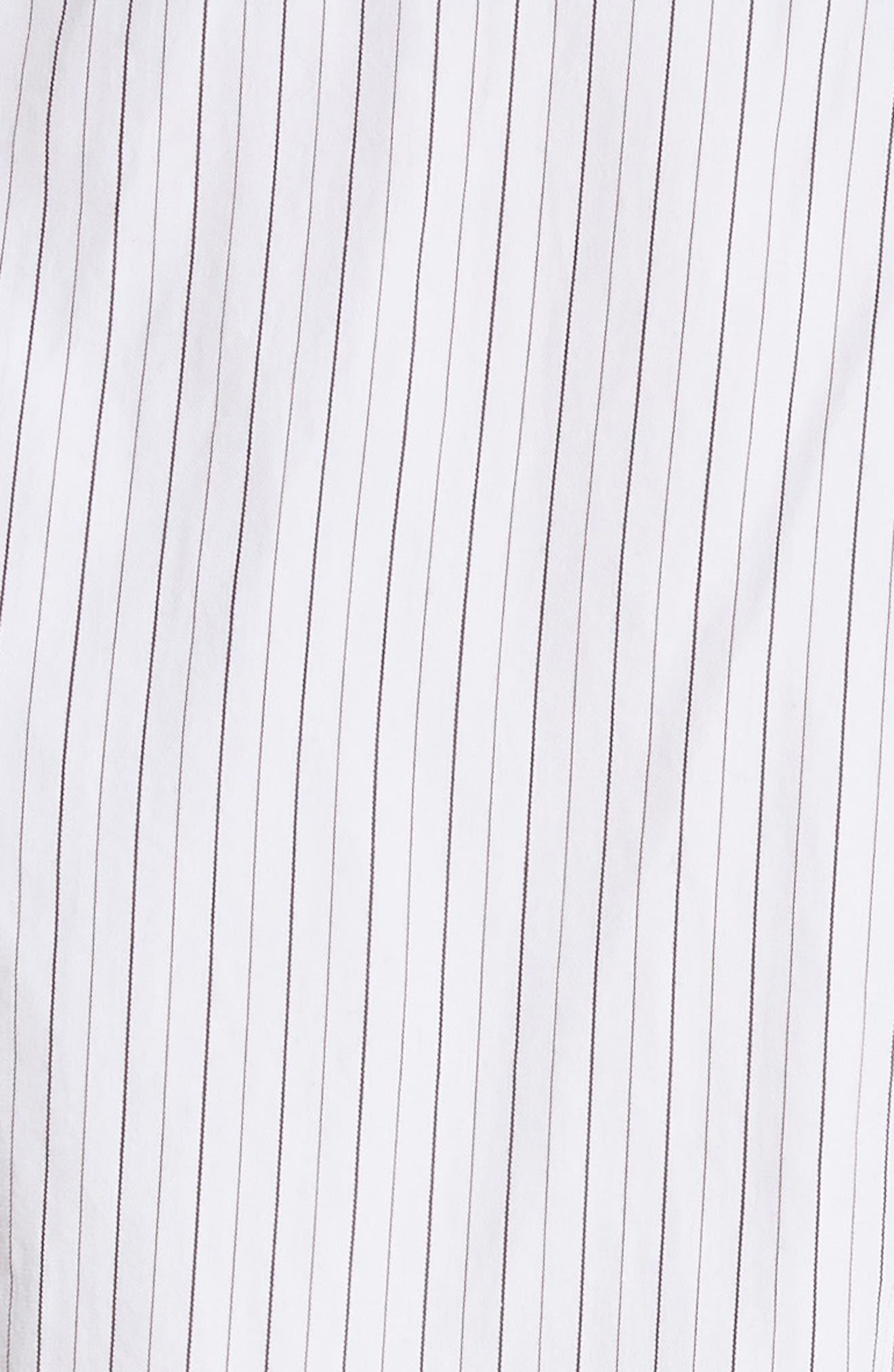 Ruffle Peplum Cotton & Silk Top,                             Alternate thumbnail 5, color,                             Natural